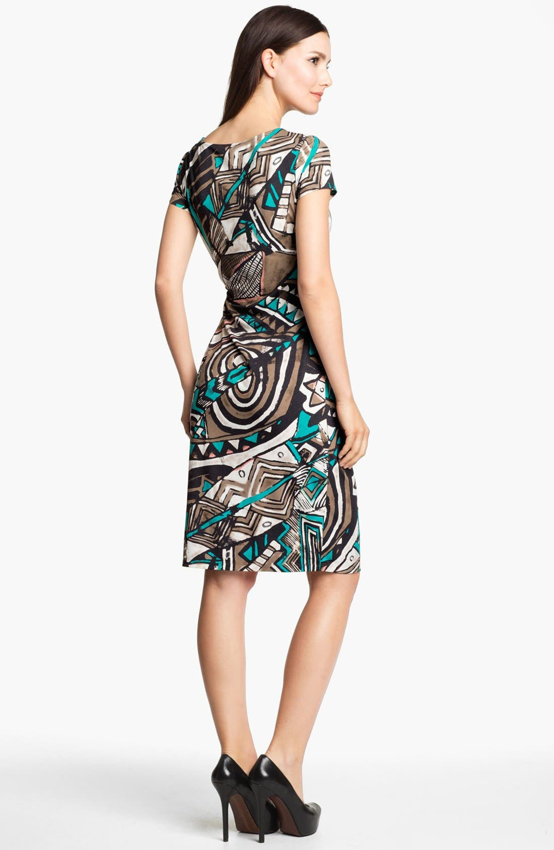 Alternate Image 2  - Lafayette 148 New York 'Kuna' Print Jersey Dress