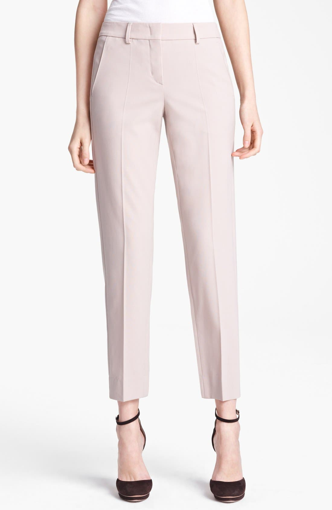 Main Image - Armani Collezioni Stretch Wool Ankle Pants