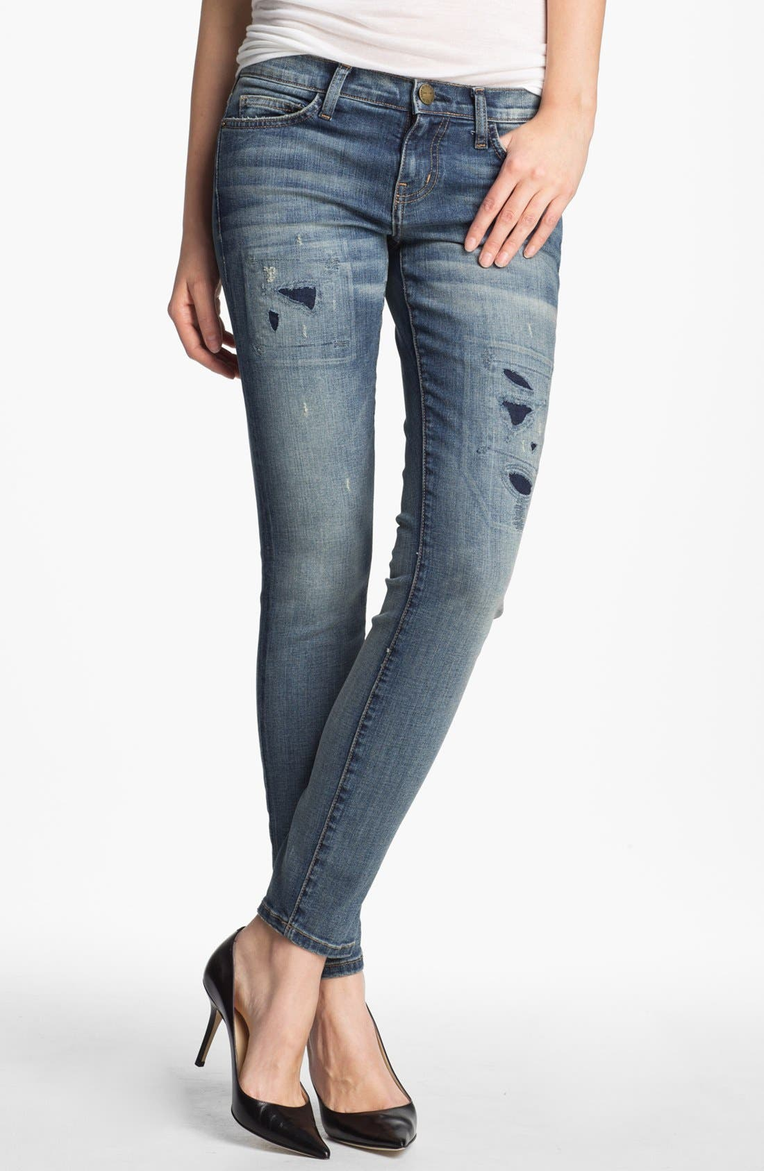 Main Image - Current/Elliott 'The Ankle' Skinny Jeans (Pixie with Repair)