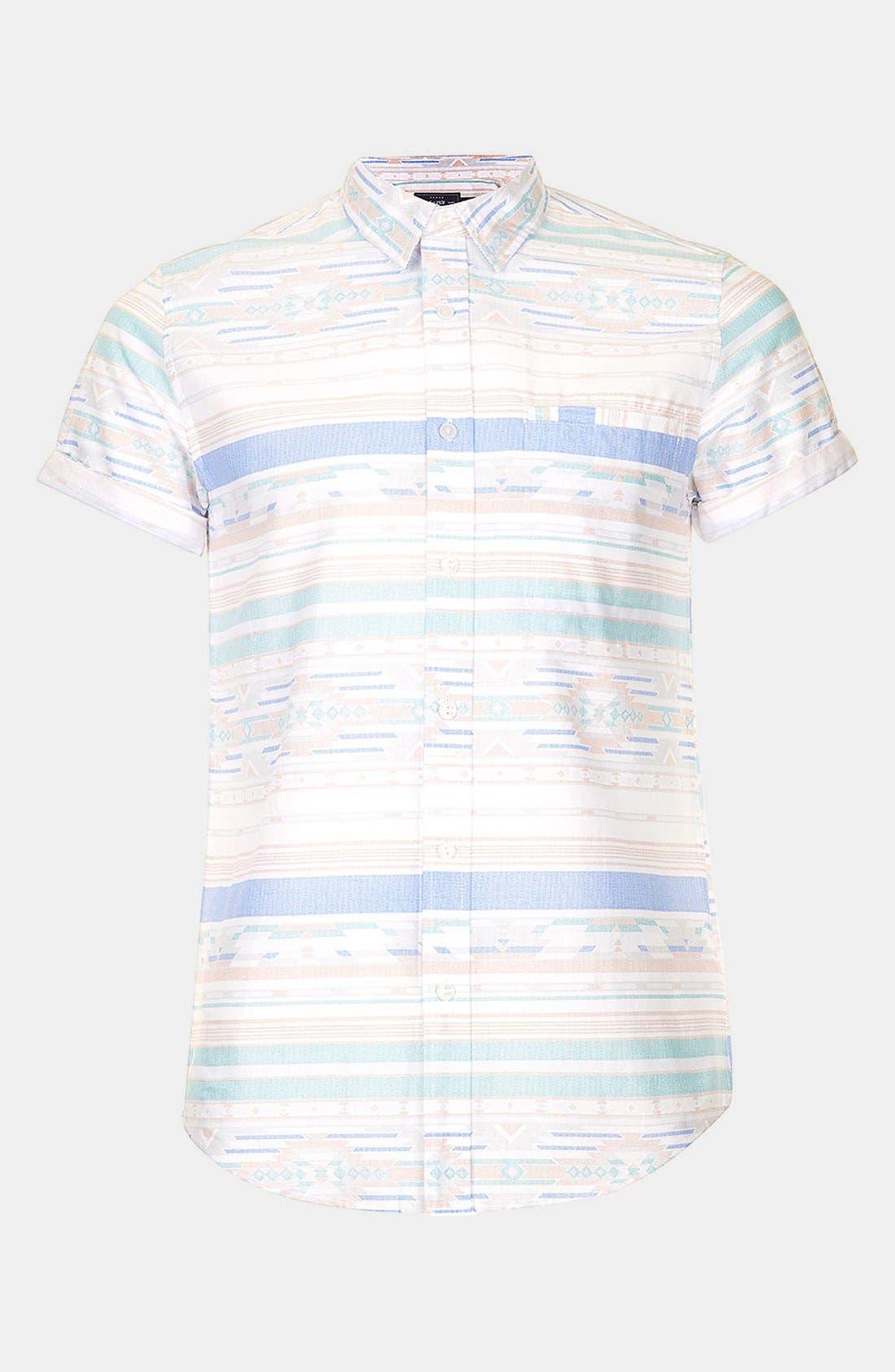 Alternate Image 1 Selected - Topman Aztec Print Shirt