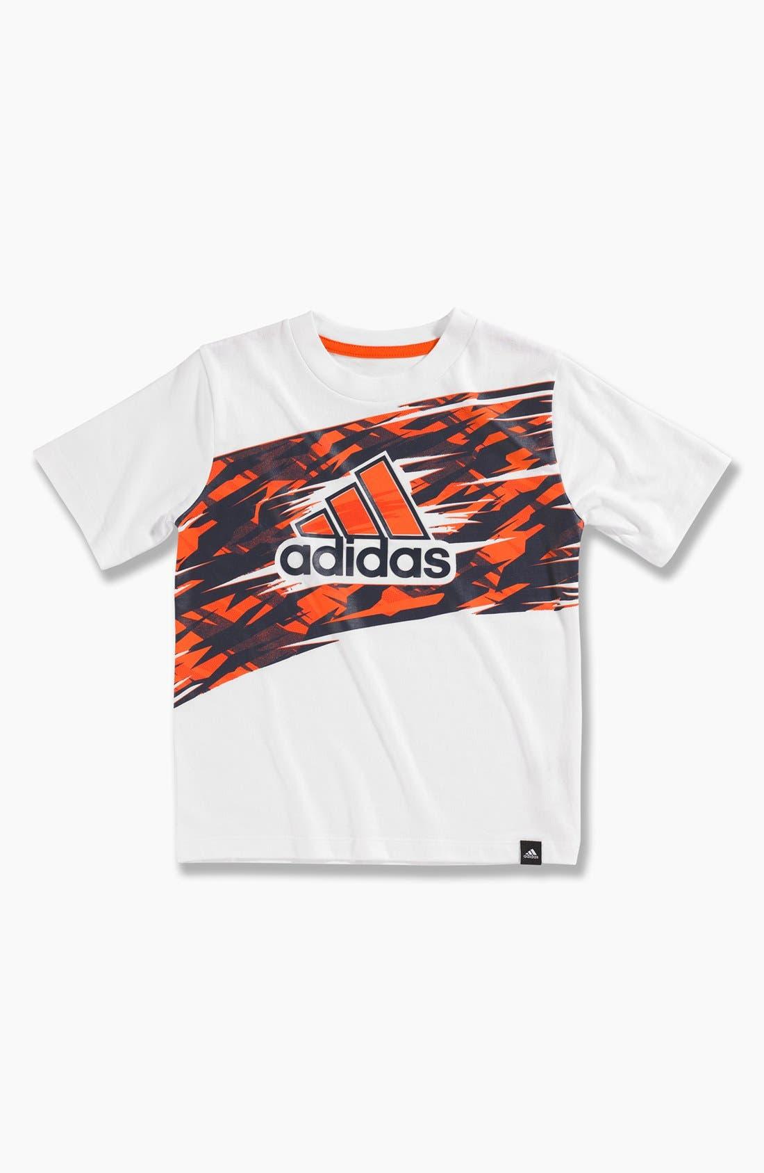 Alternate Image 1 Selected - adidas 'Impact Performance' T-Shirt (Little Boys)