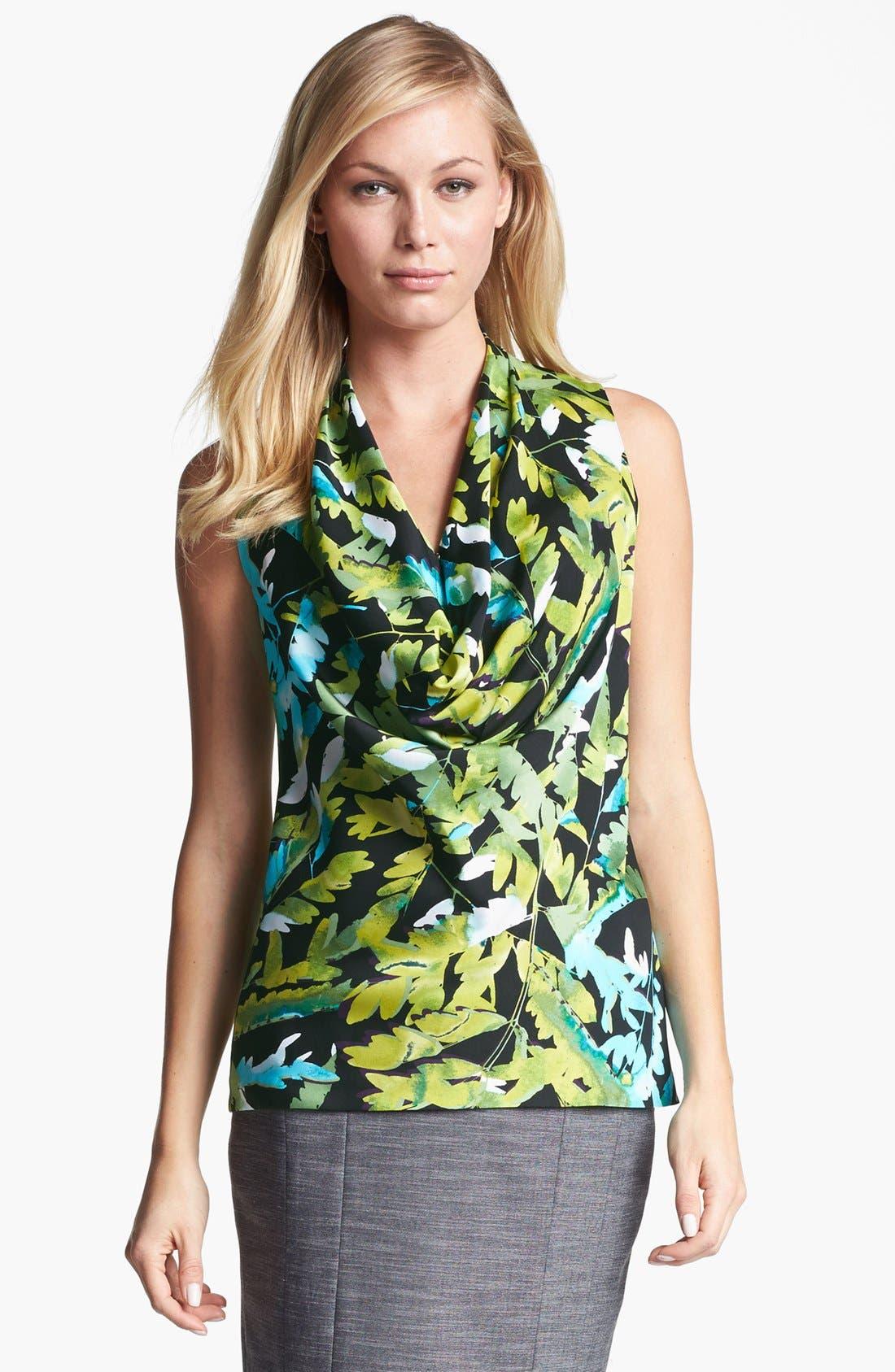 Alternate Image 1 Selected - Classiques Entier® Cowl Neck Stretch Silk Blouse