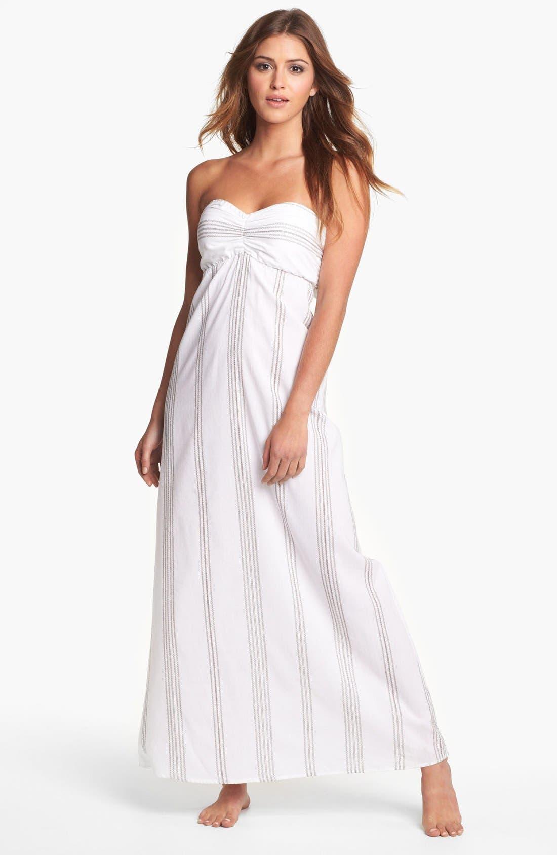 Main Image - Tommy Bahama 'Marina Stripe' Bandeau Cover-Up Dress