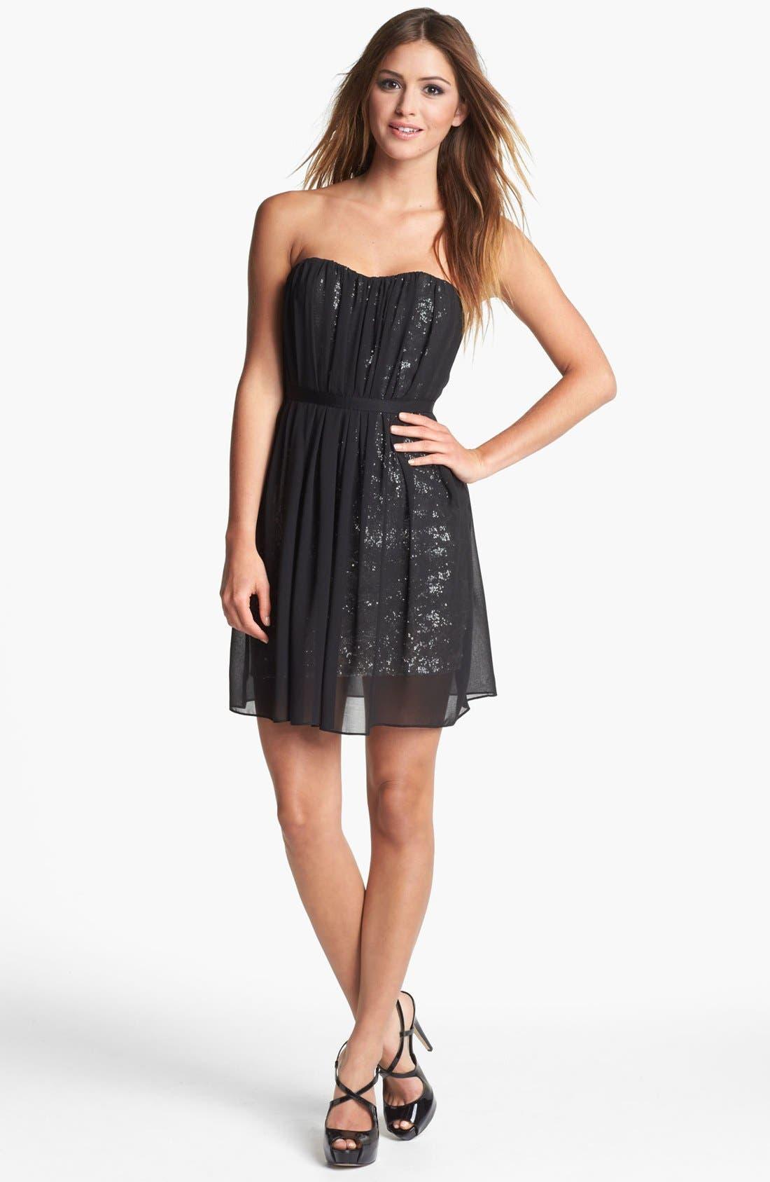 Main Image - ERIN erin fetherston Strapless Embellished Chiffon Dress