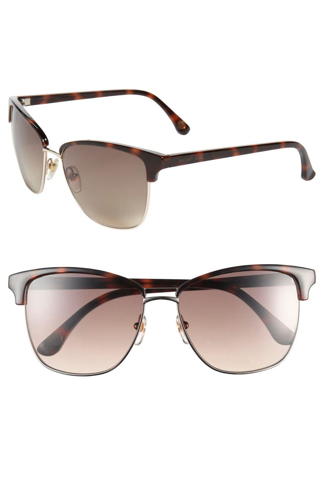 Alternate Image 1 Selected - MICHAEL Michael Kors 'Ruth' 57mm Retro Sunglasses