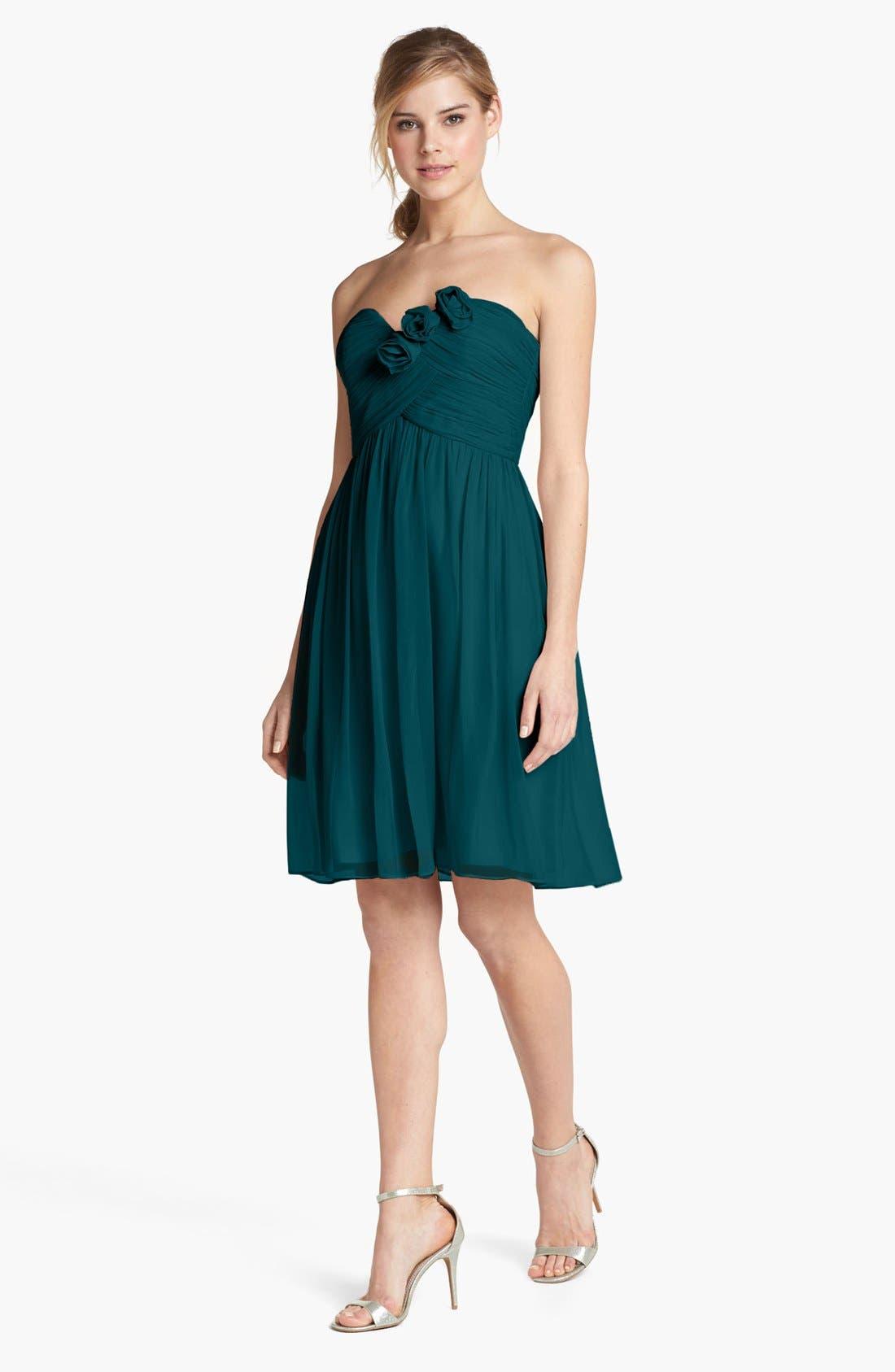 Main Image - Donna Morgan 'Mary' Strapless Silk Chiffon Dress