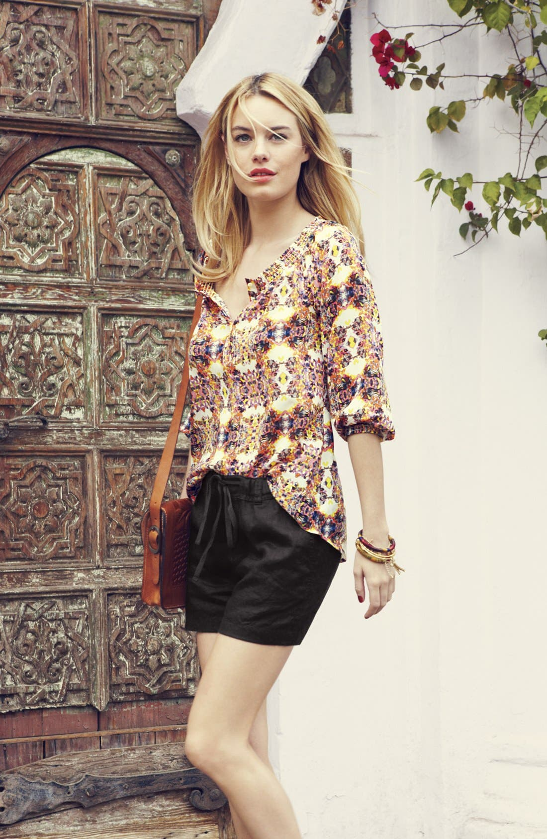 Alternate Image 6  - Caslon® Three Quarter Sleeve Peasant Blouse (Petite)