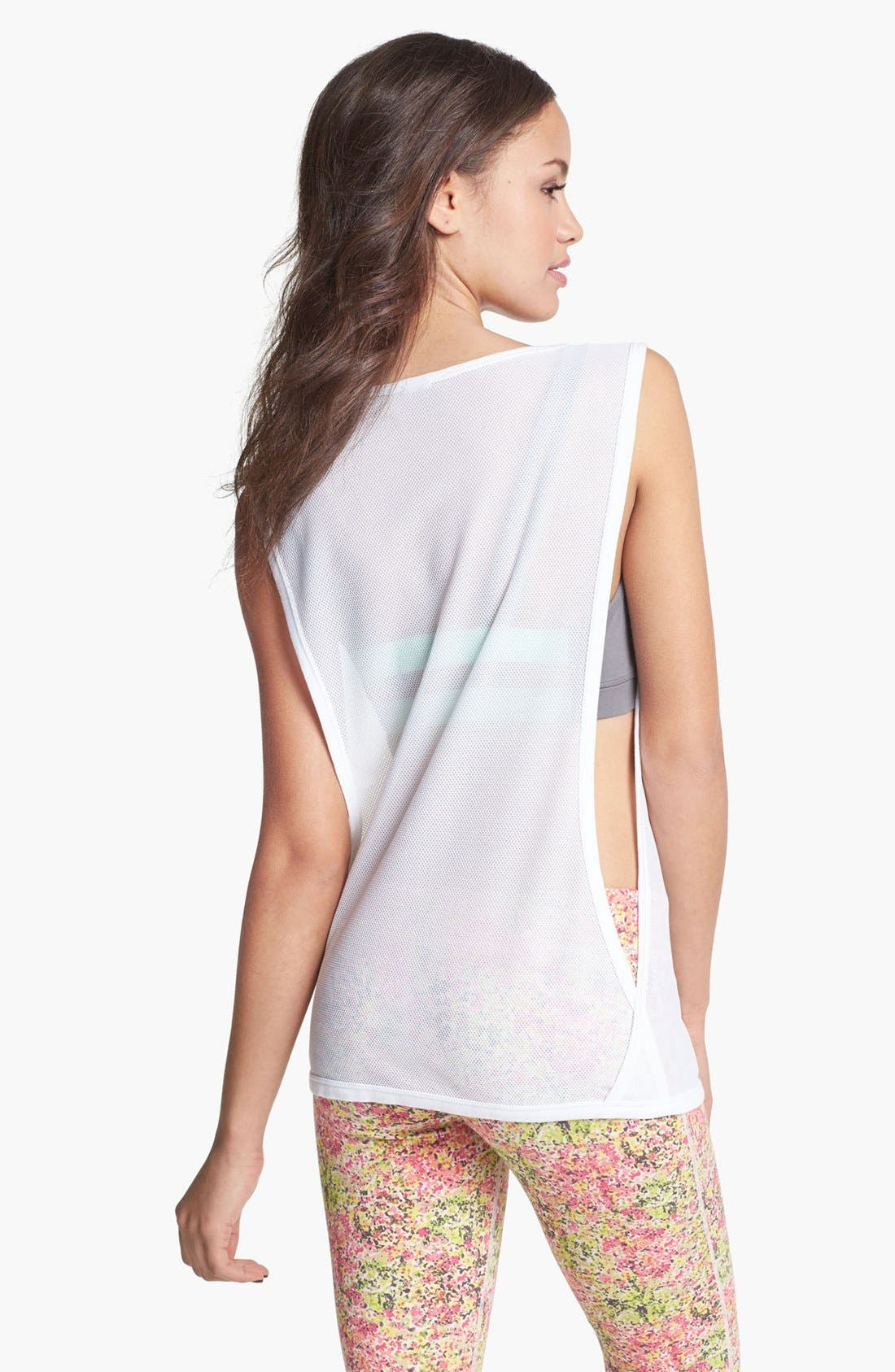 Alternate Image 2  - Unit-Y 'Peekaboo' Mesh Muscle Tee