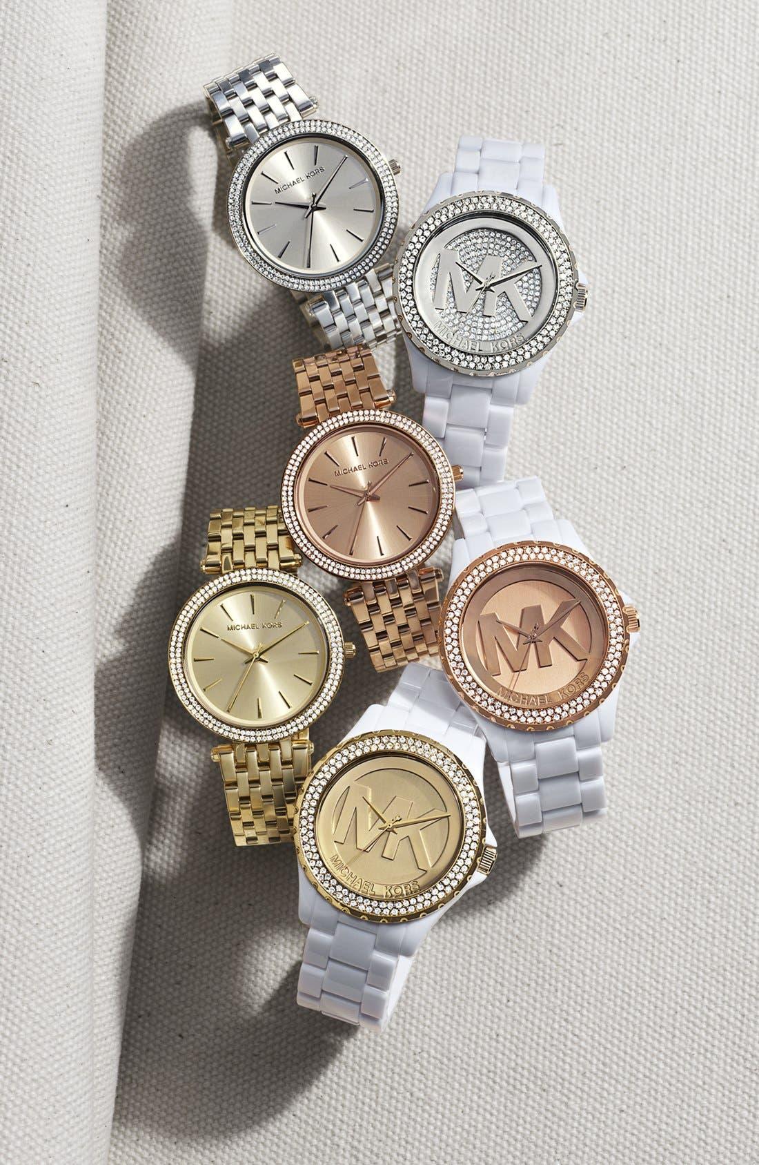 Alternate Image 2  - Michael Kors 'Madison' Pavé Logo Watch, 42mm