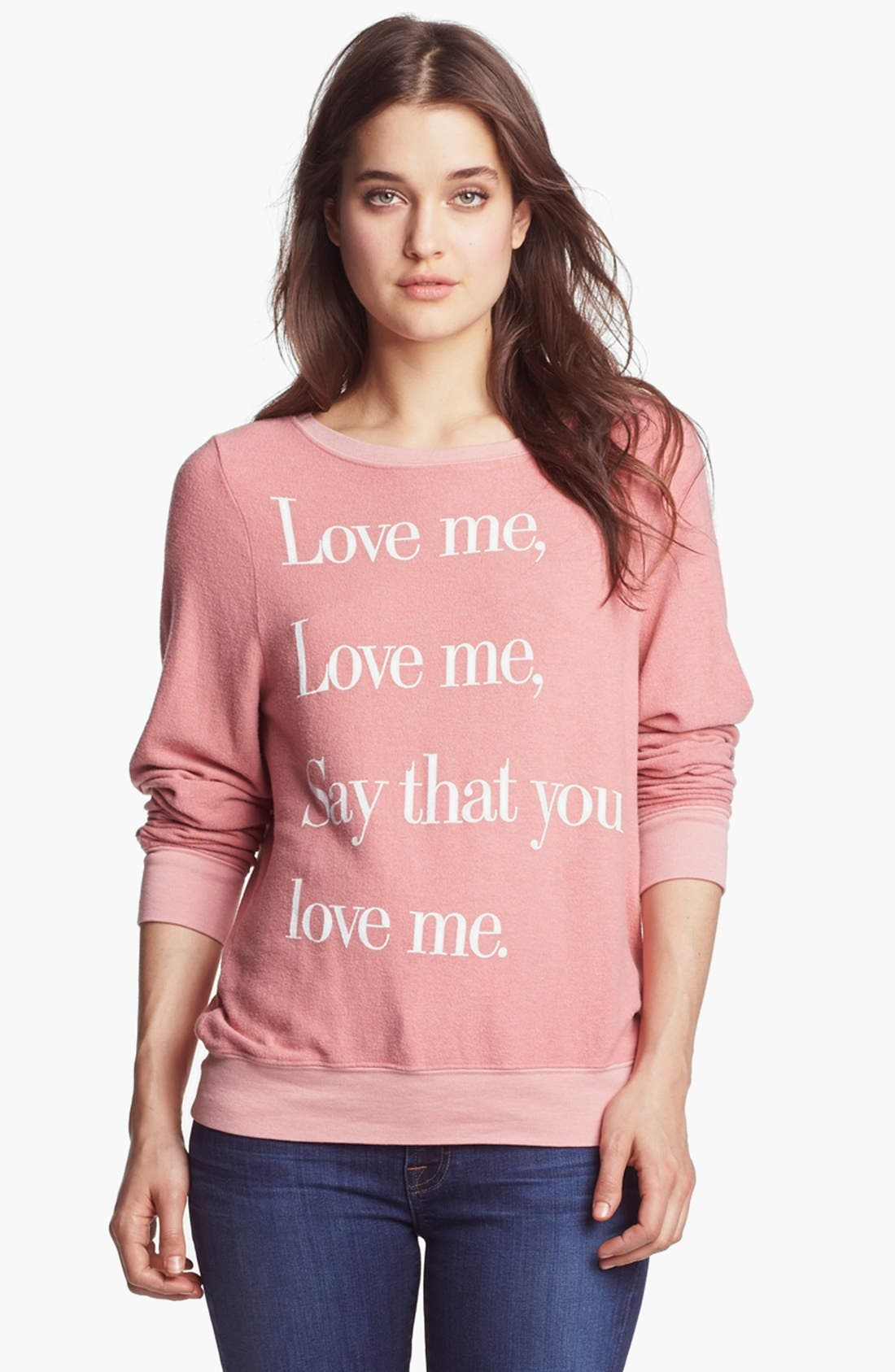 Main Image - Wildfox 'Love Me' Sweatshirt