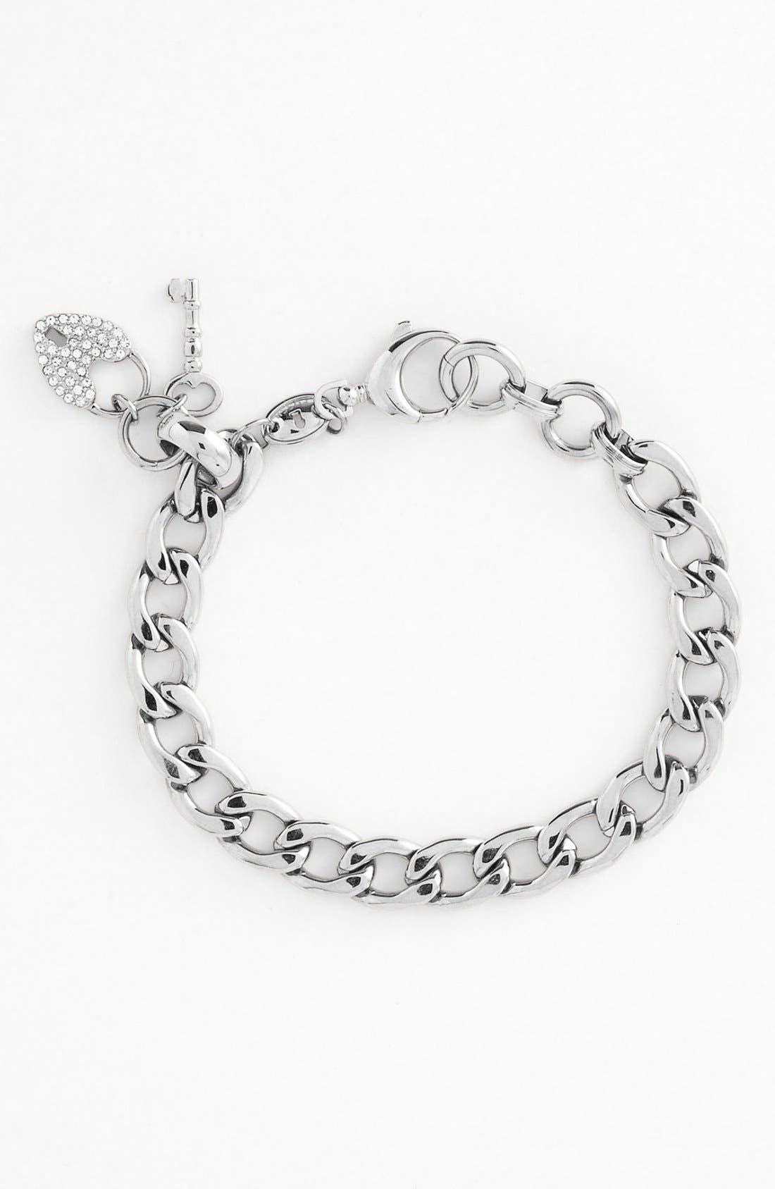 Alternate Image 1 Selected - Fossil Curb Link Charm Bracelet