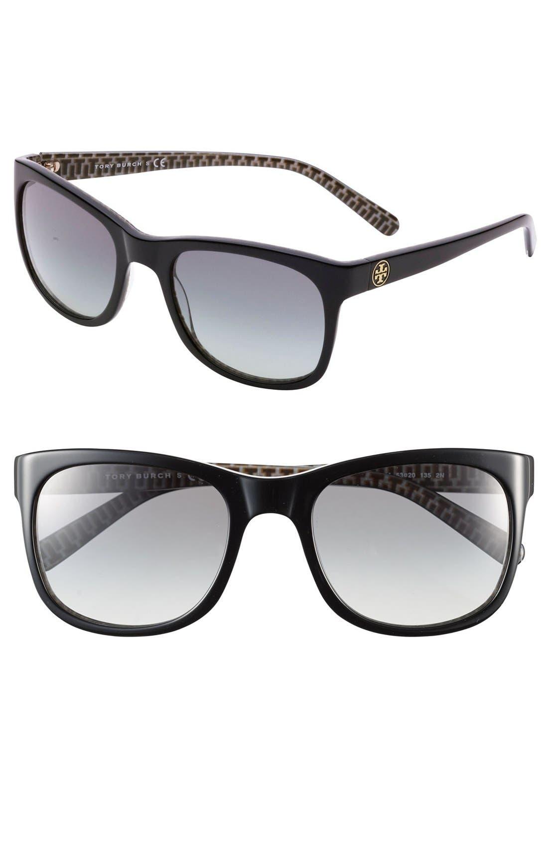 Main Image - Tory Burch 53mm Glam Logo Sunglasses