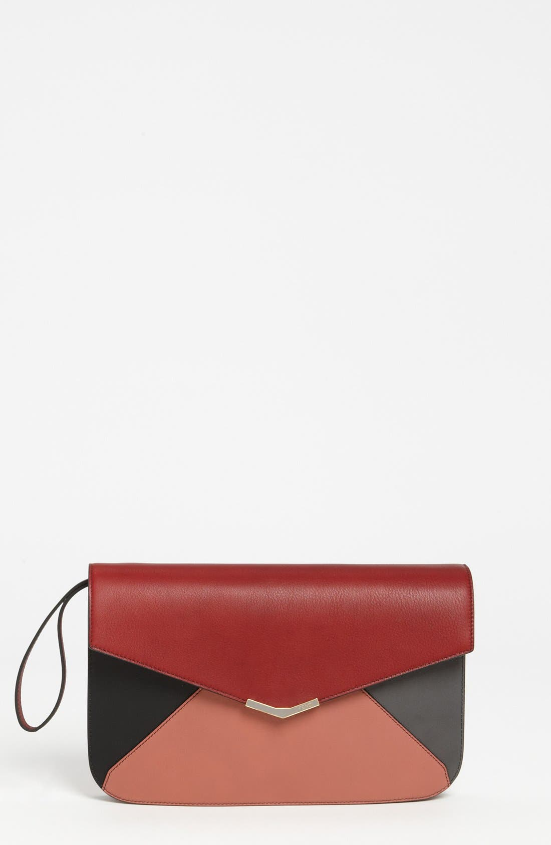 Main Image - Fendi '2Jours Colorblock' Leather Clutch