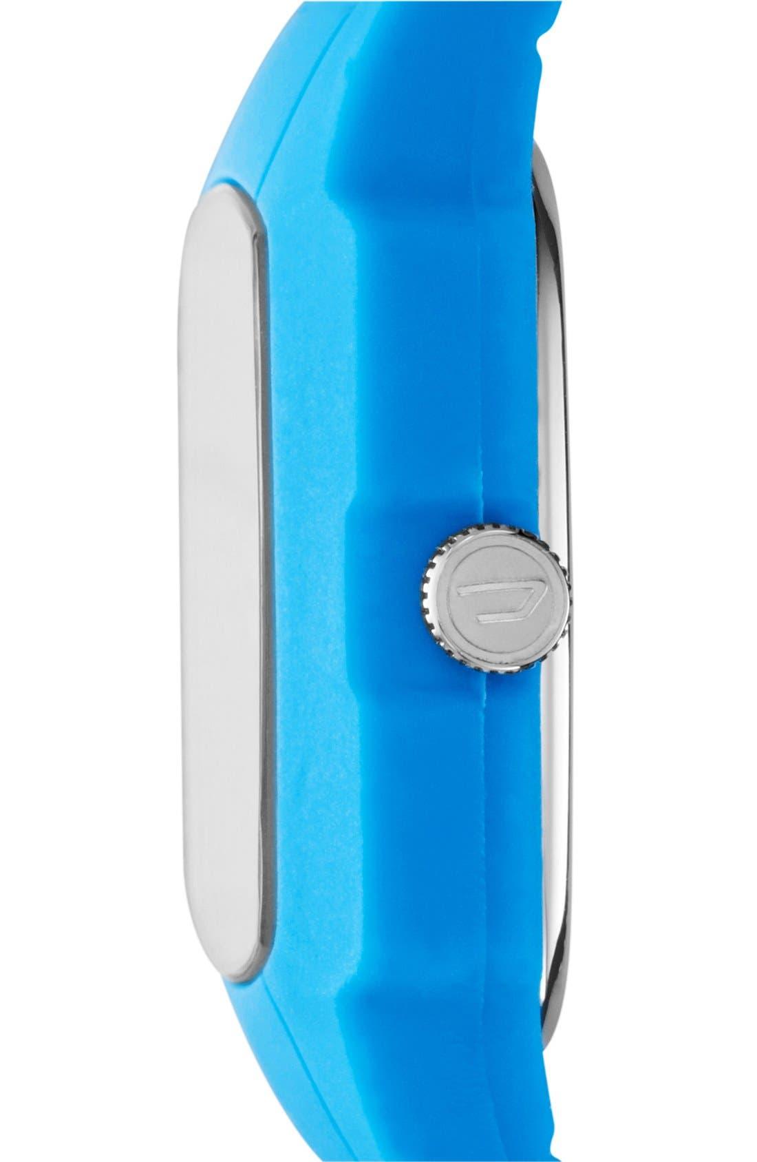 Alternate Image 2  - DIESEL® 'Trojan' Silicone Strap Watch, 48mm x 43mm