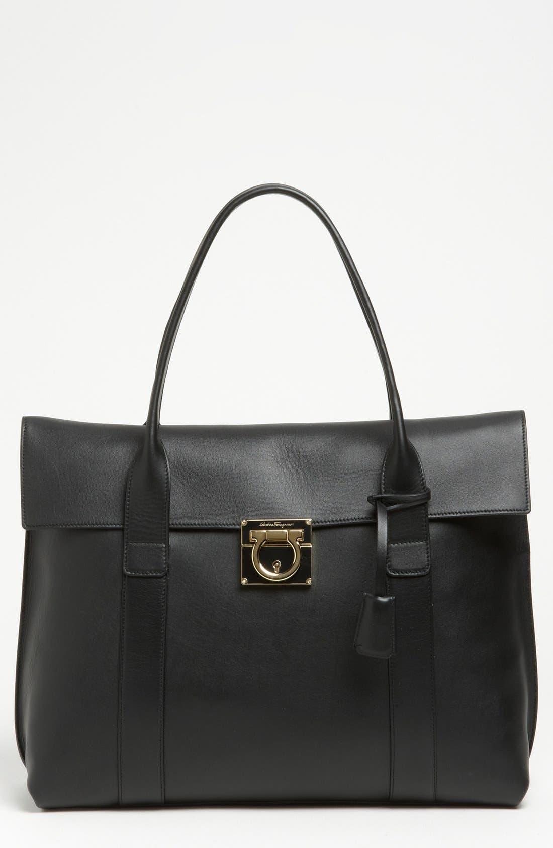 Alternate Image 1 Selected - Salvatore Ferragamo 'Large Sookie' Leather Shopper