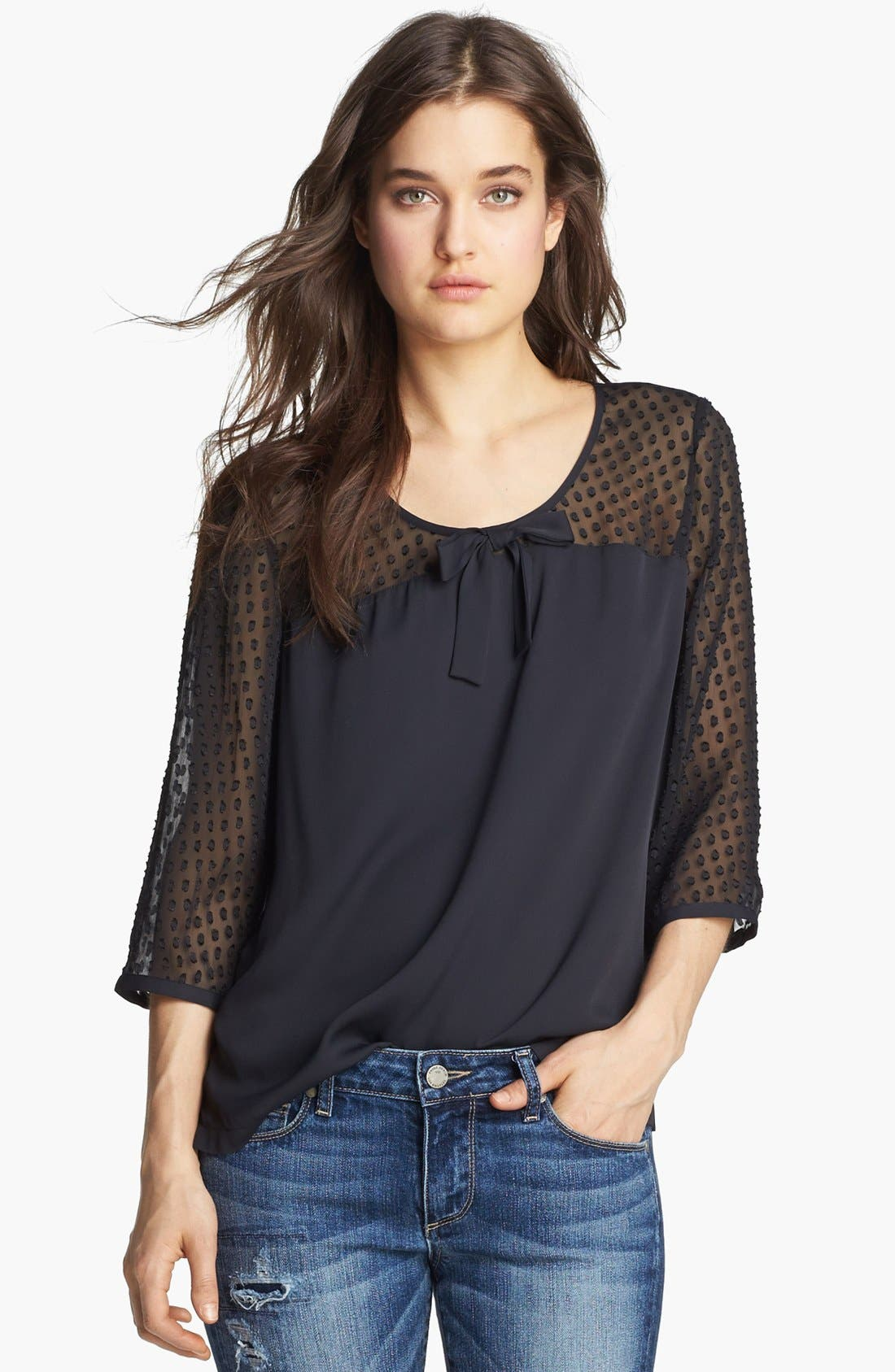 Alternate Image 1 Selected - Hinge®  Jacquard Dot Top