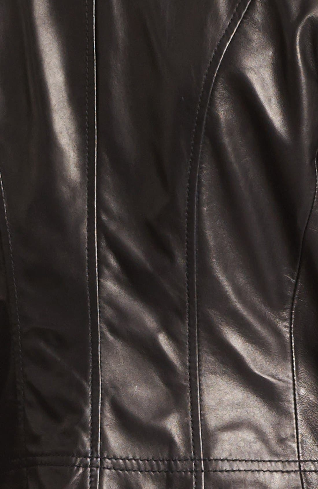 Alternate Image 3  - Calvin Klein Leather Moto Jacket