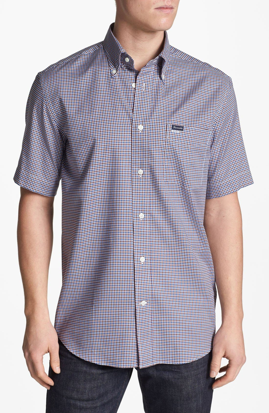 Main Image - Façonnable Classique Fit Short Sleeve Sport Shirt