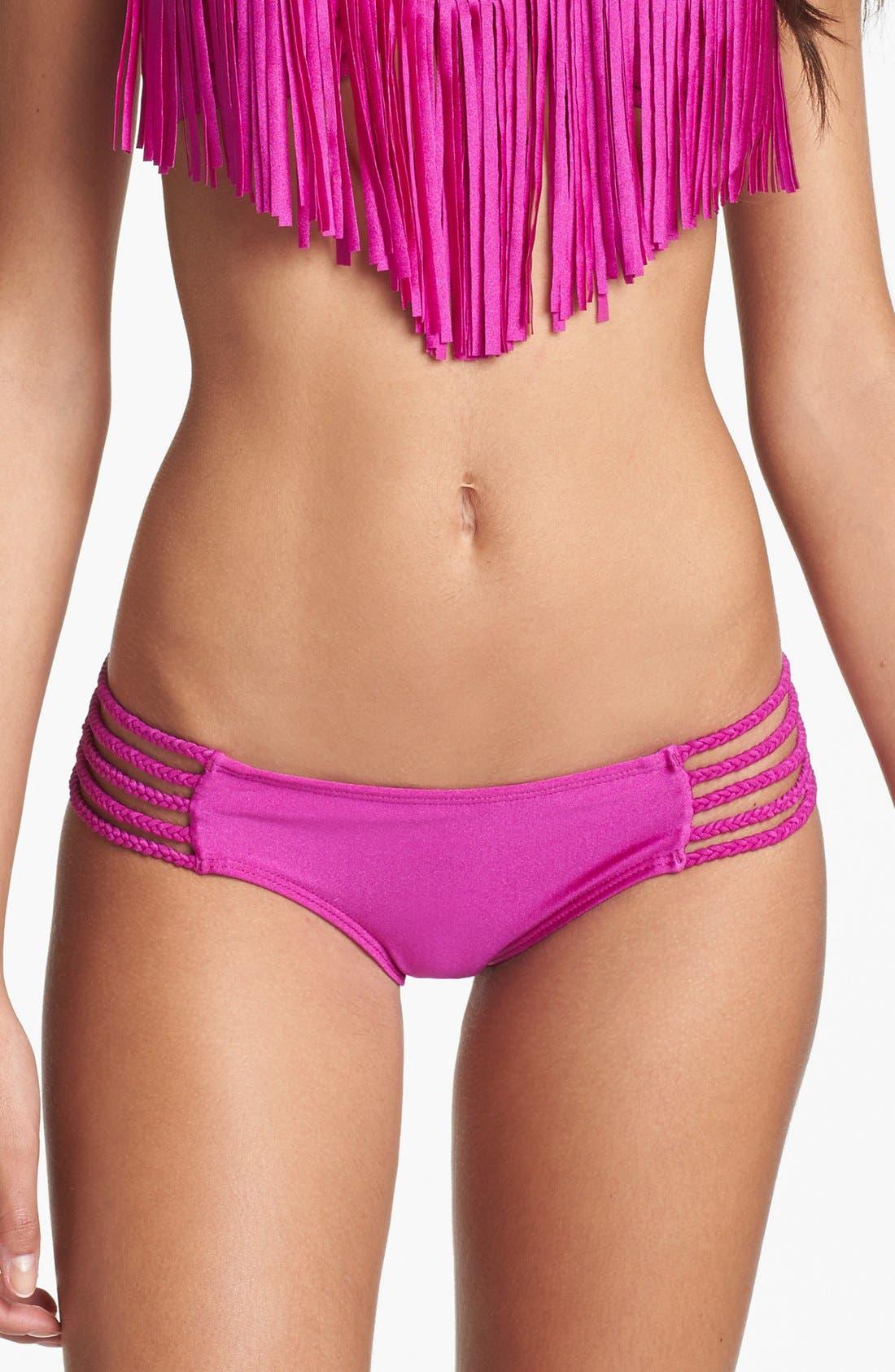 Main Image - Luli Fama Braided Side Bikini Bottoms