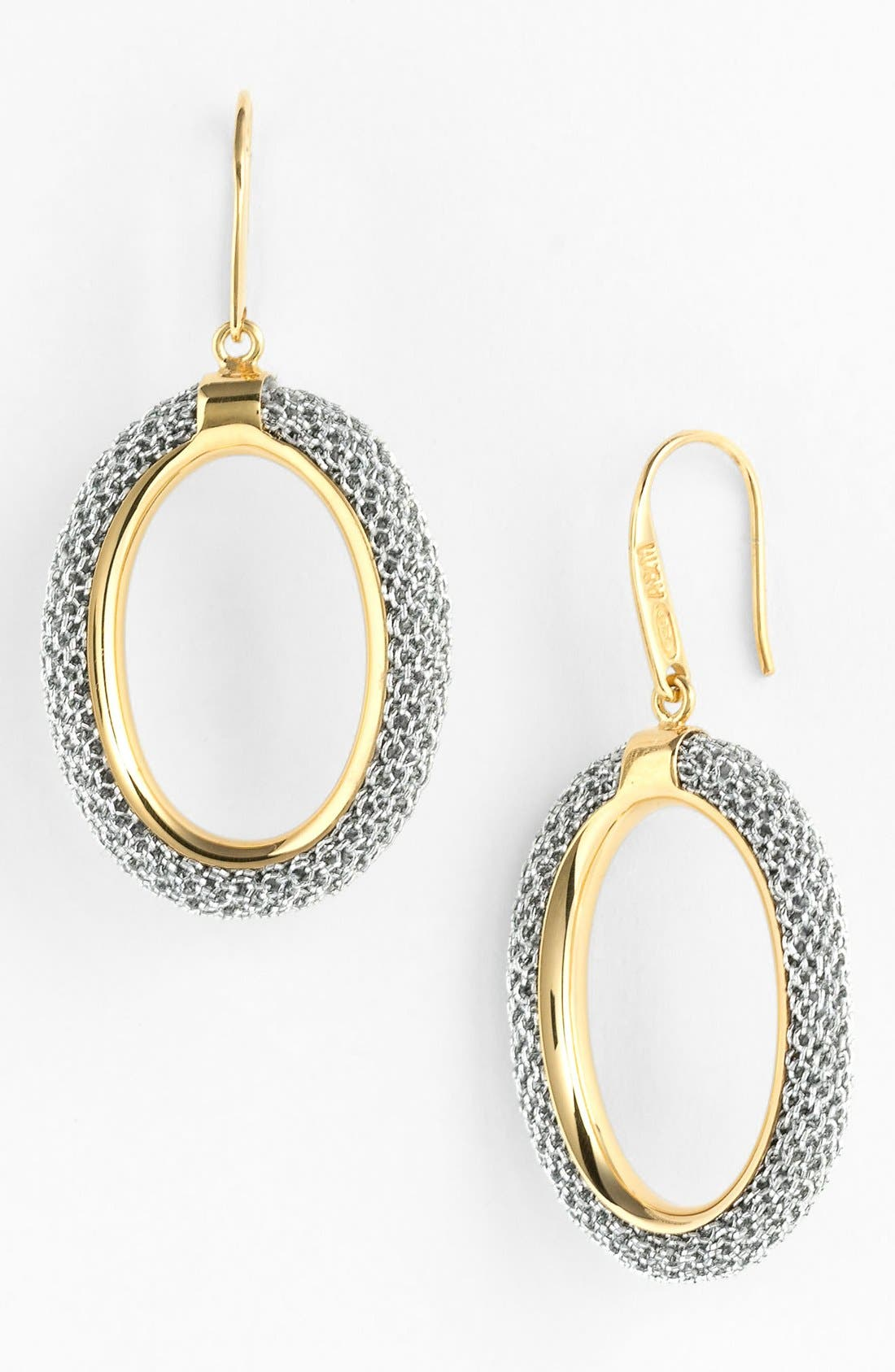 Main Image - Adami & Martucci 'Mesh' Oval Drop Earrings (Nordstrom Exclusive)