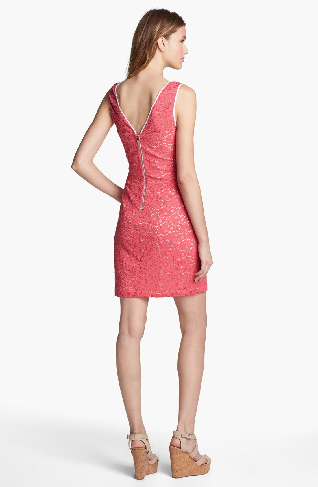 Alternate Image 2  - Marc New York by Andrew Marc Sleeveless Lace Sheath Dress