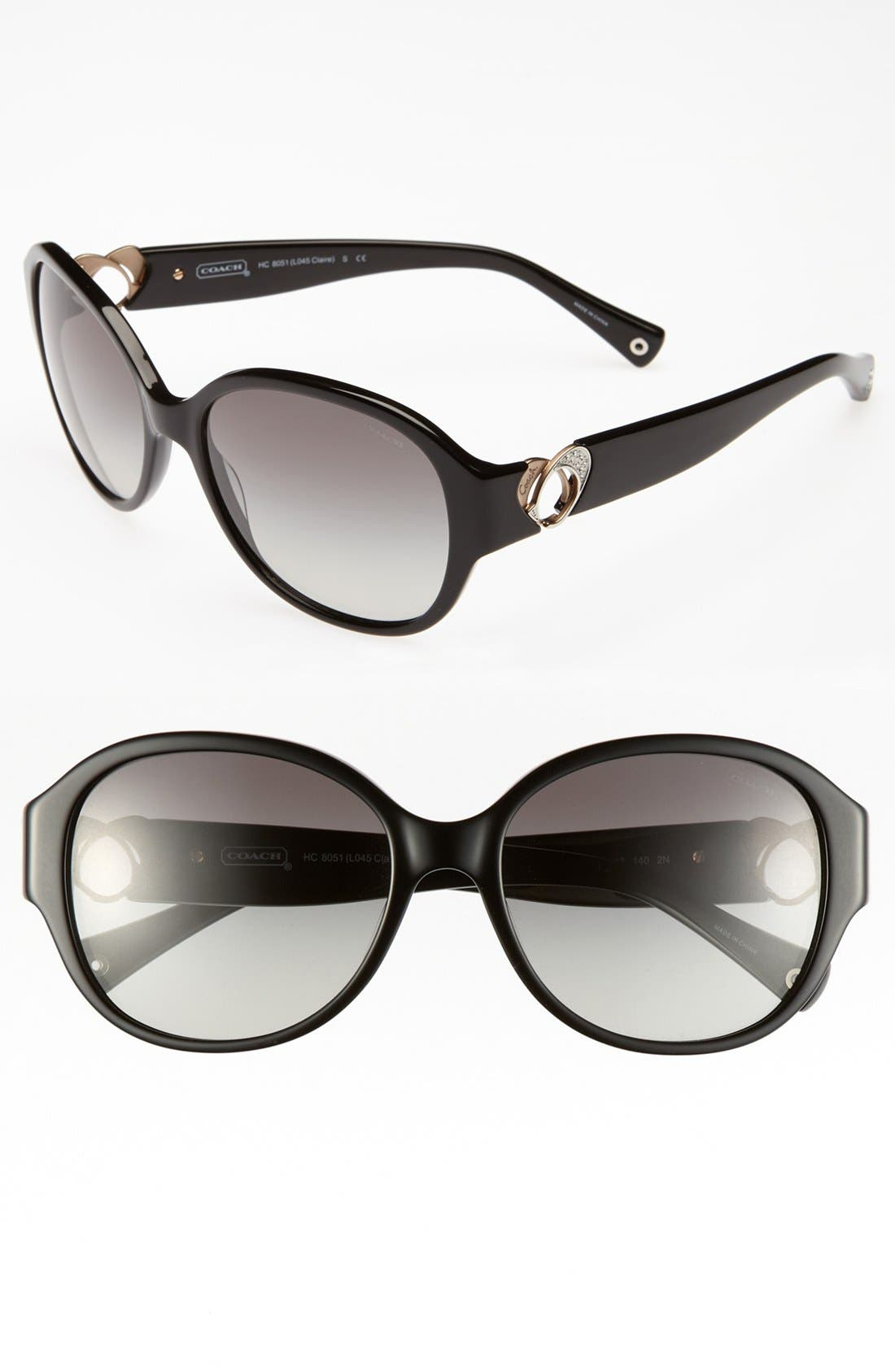 Main Image - COACH 'Claire' 58mm Oversized Sunglasses