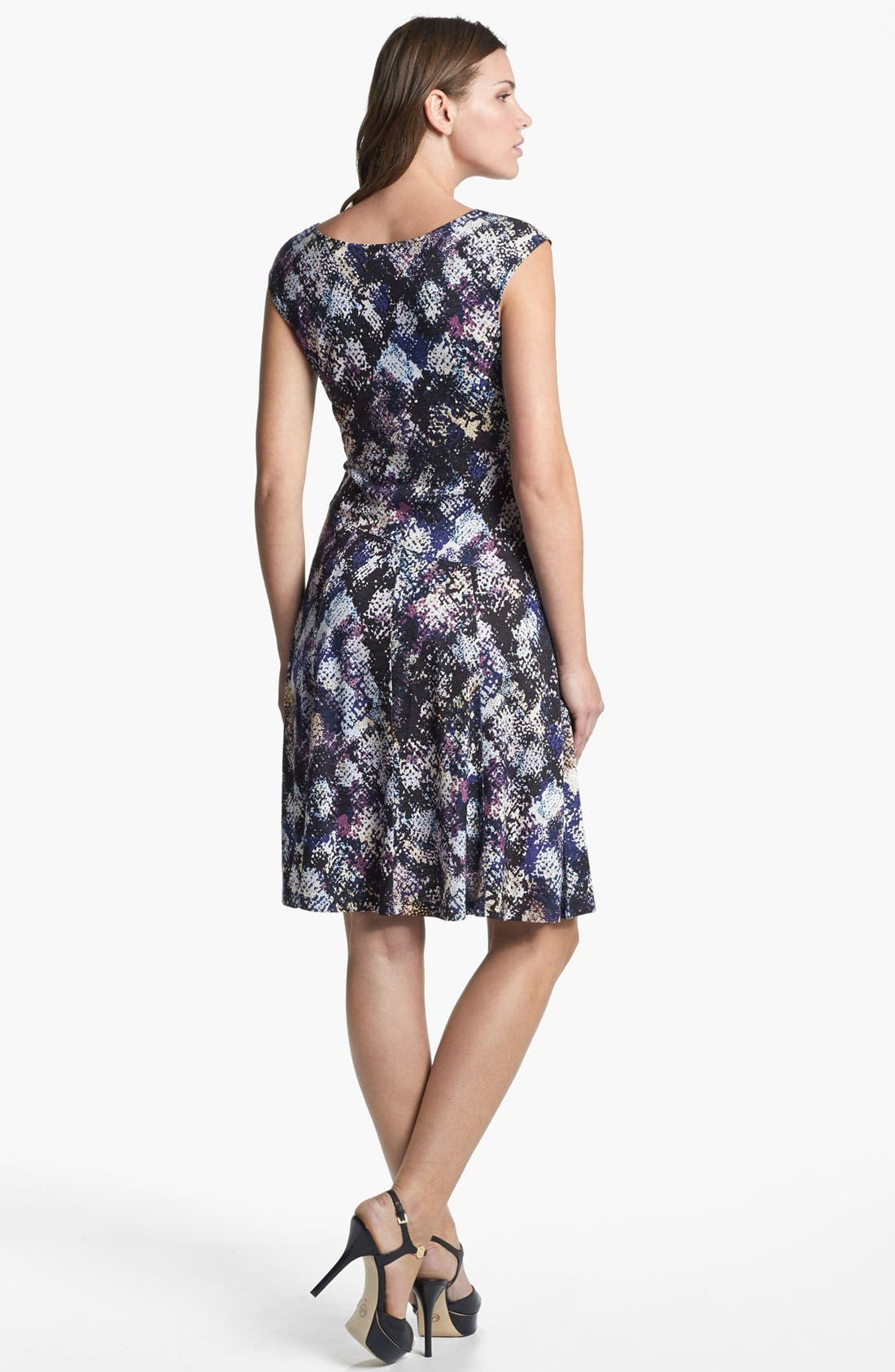 Alternate Image 2  - NIC+ZOE Cap Sleeve Faux Wrap Print Dress