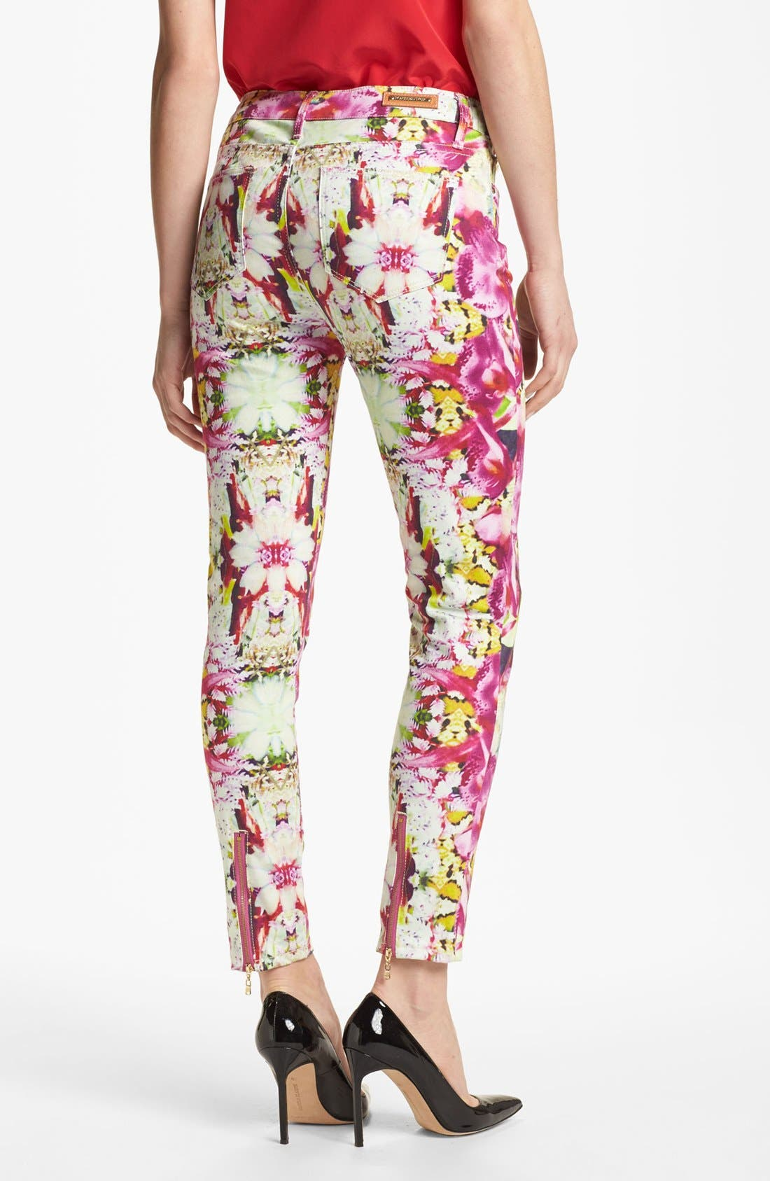 Alternate Image 2  - Rachel Roy 'Orchid Abstract' Crop Skinny Stretch Jeans