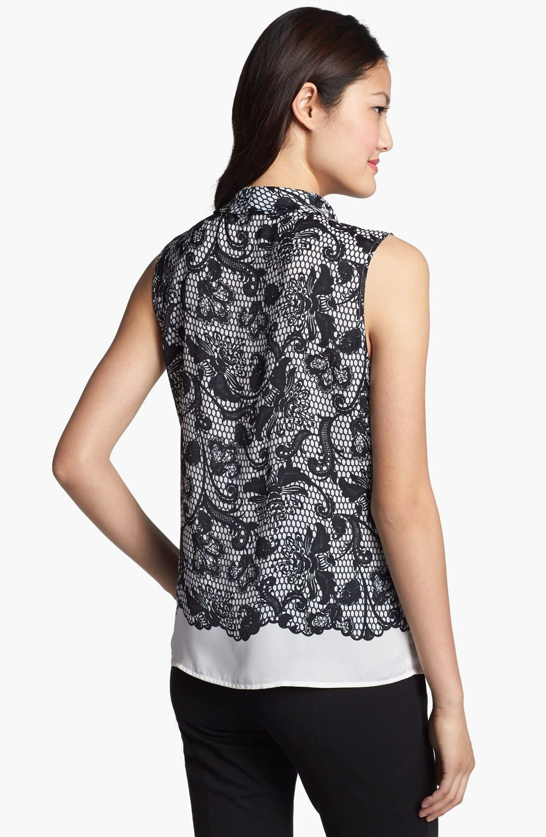 Alternate Image 2  - Halogen® Tie Neck Sleeveless Top