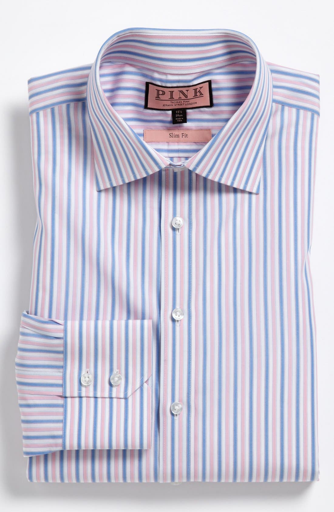 Alternate Image 1 Selected - Thomas Pink Slim Fit Dress Shirt