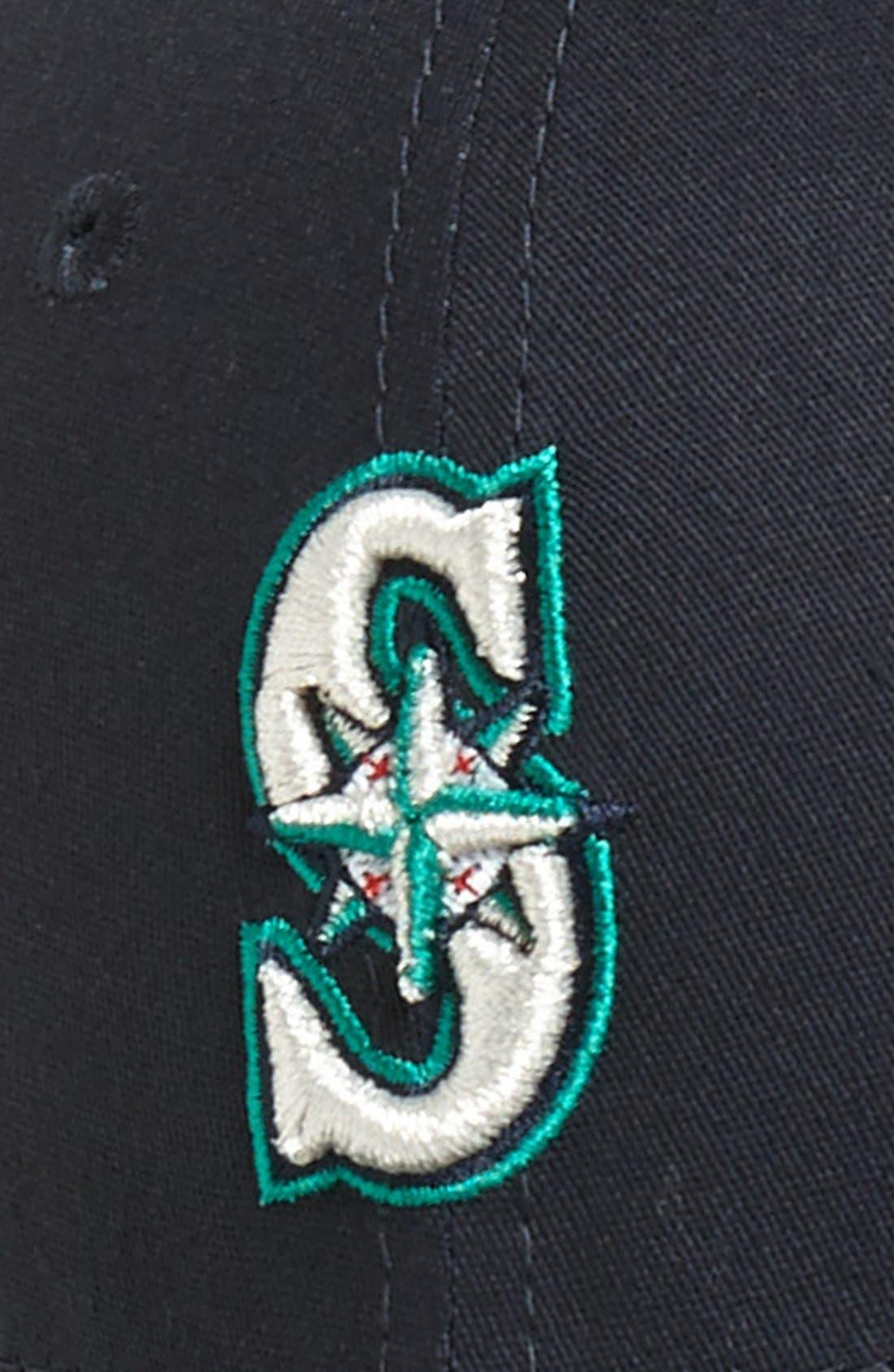 Alternate Image 2  - New Era Cap 'Seattle Mariners - Tie Breaker' Baseball Cap (Big Boys)