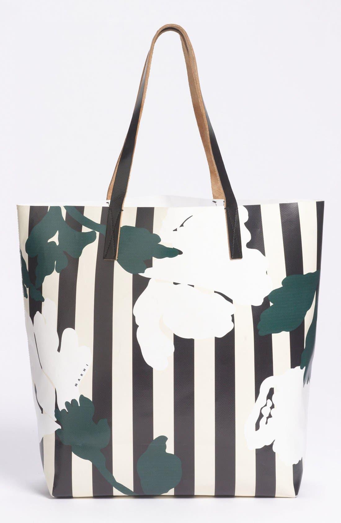 Alternate Image 4  - Marni Floral Stripe Tote