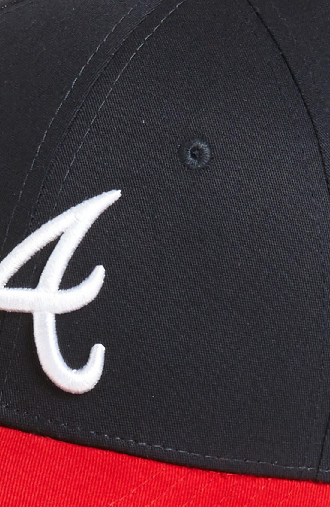 Alternate Image 2  - New Era Cap 'Atlanta Braves - Tie Breaker' Baseball Cap (Big Boys)
