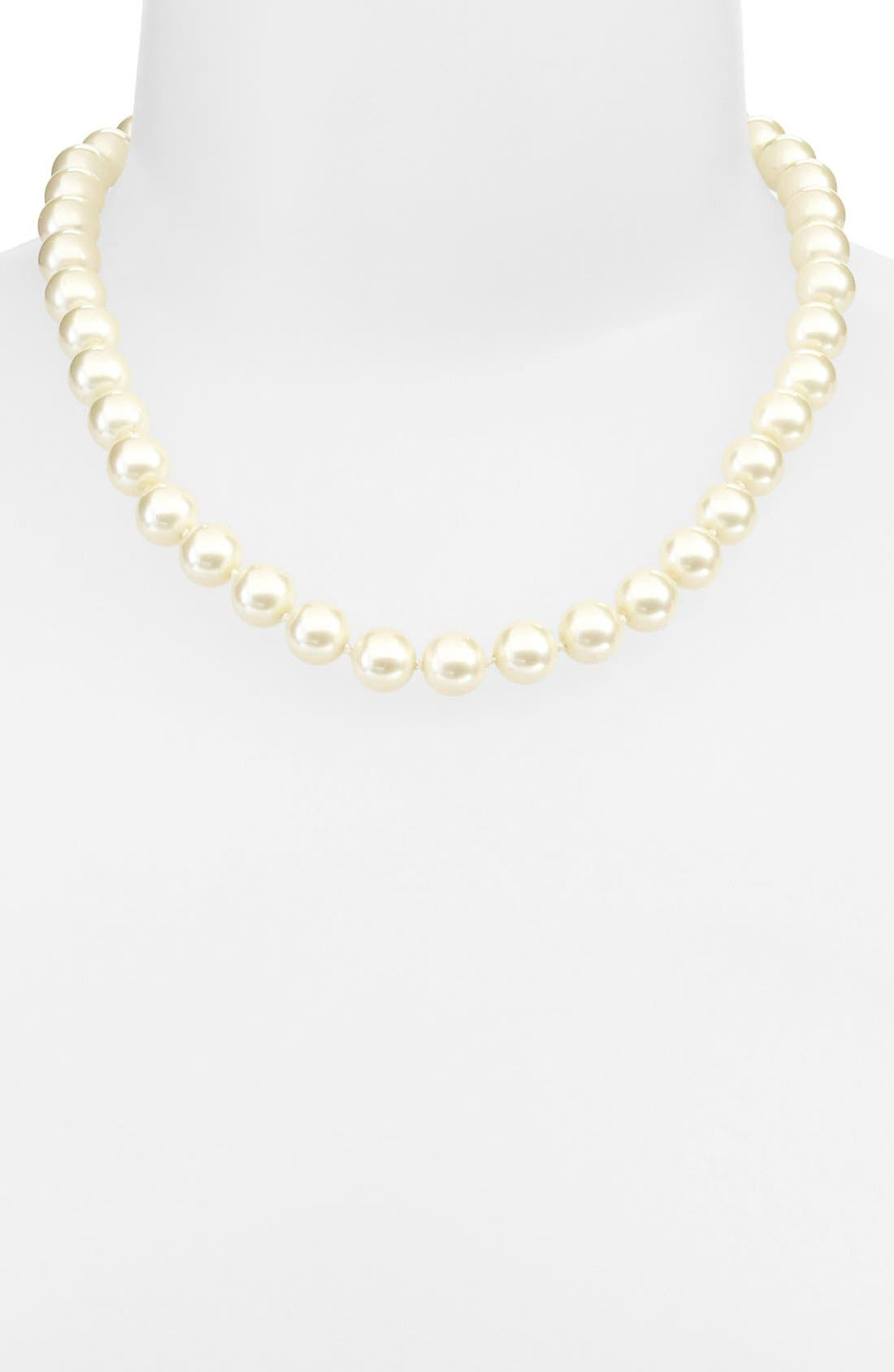 Main Image - kate spade new york 'skinny mini' faux pearl collar necklace