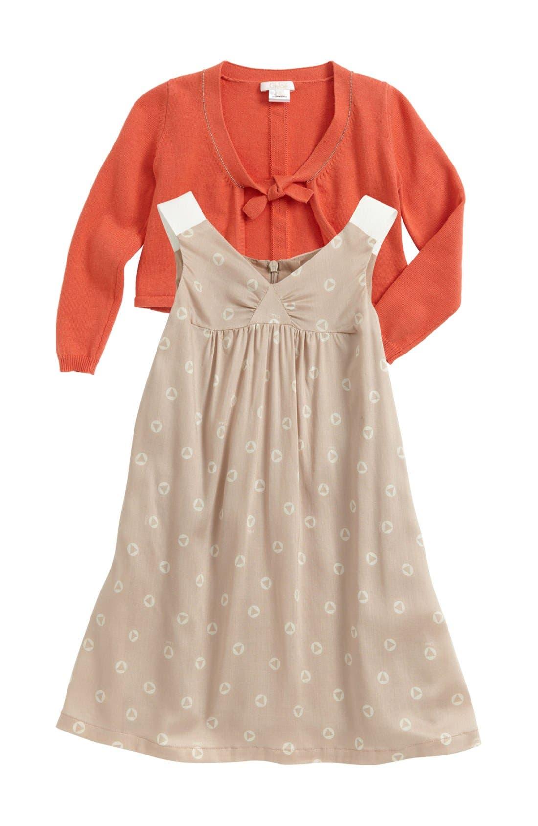 Main Image - Chloé Woven Dress (Toddler, Little Girls & Big Girls)