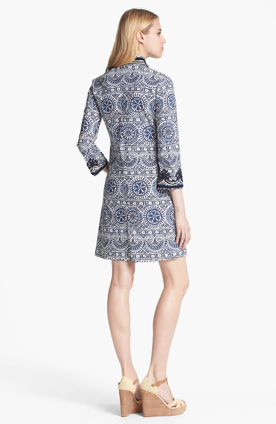 Alternate Image 2  - Tory Burch Poplin Shift Minidress