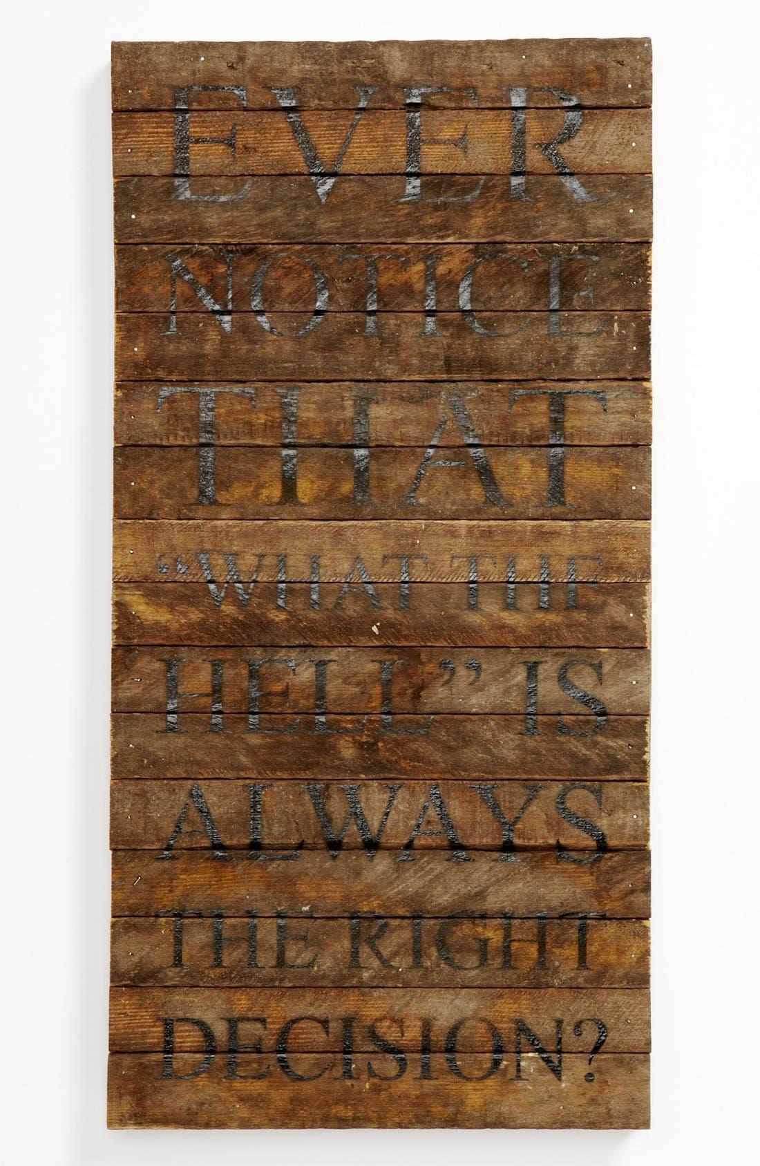 Alternate Image 1 Selected - Repurposed Wood Wall Art