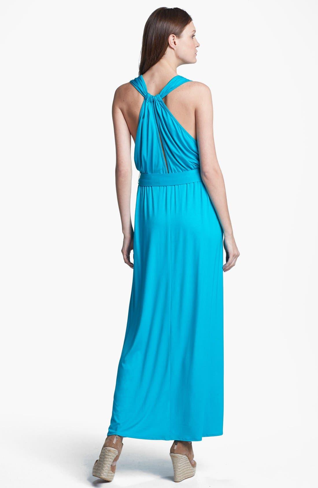 Alternate Image 2  - Trina Turk 'Leandra' Belted Stretch Maxi Dress