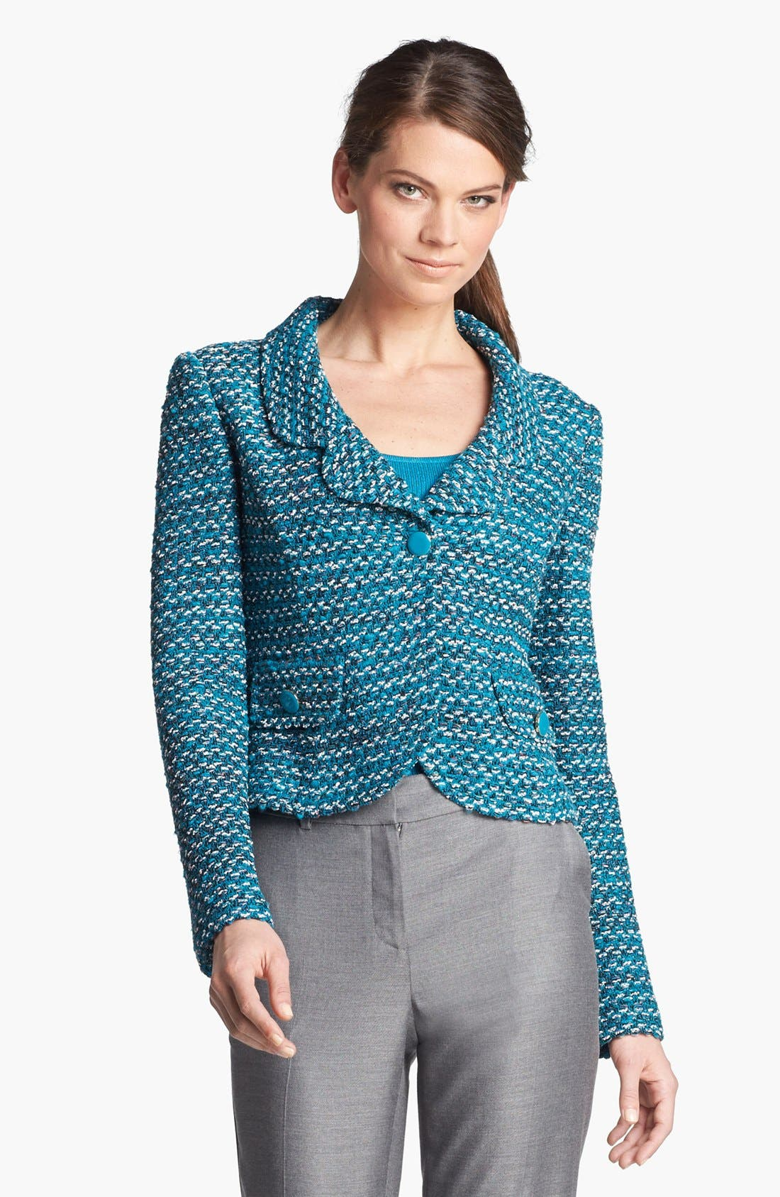 Alternate Image 1 Selected - St. John Collection Notch Collar Tweed Knit Jacket