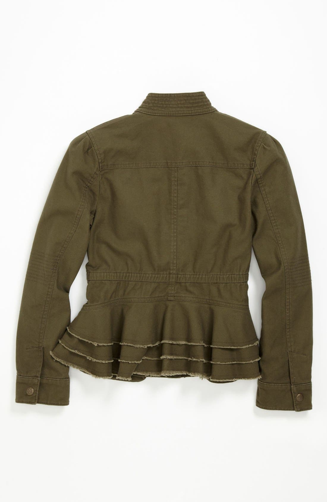 Alternate Image 2  - Collection B Cotton Cargo Jacket (Big Girls)