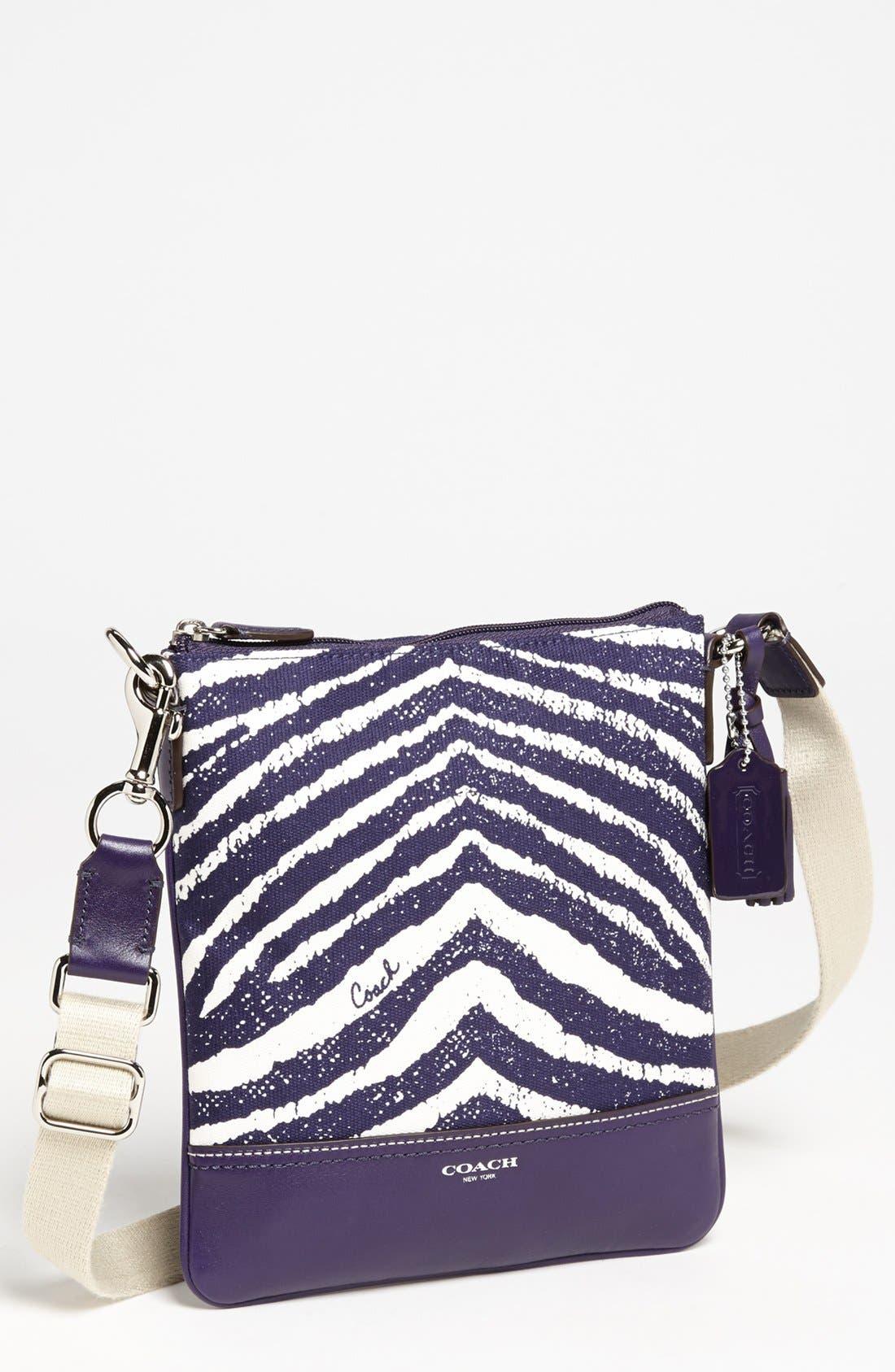 Alternate Image 1 Selected - COACH 'Legacy - Swingpack' Zebra Print Crossbody Bag, Small