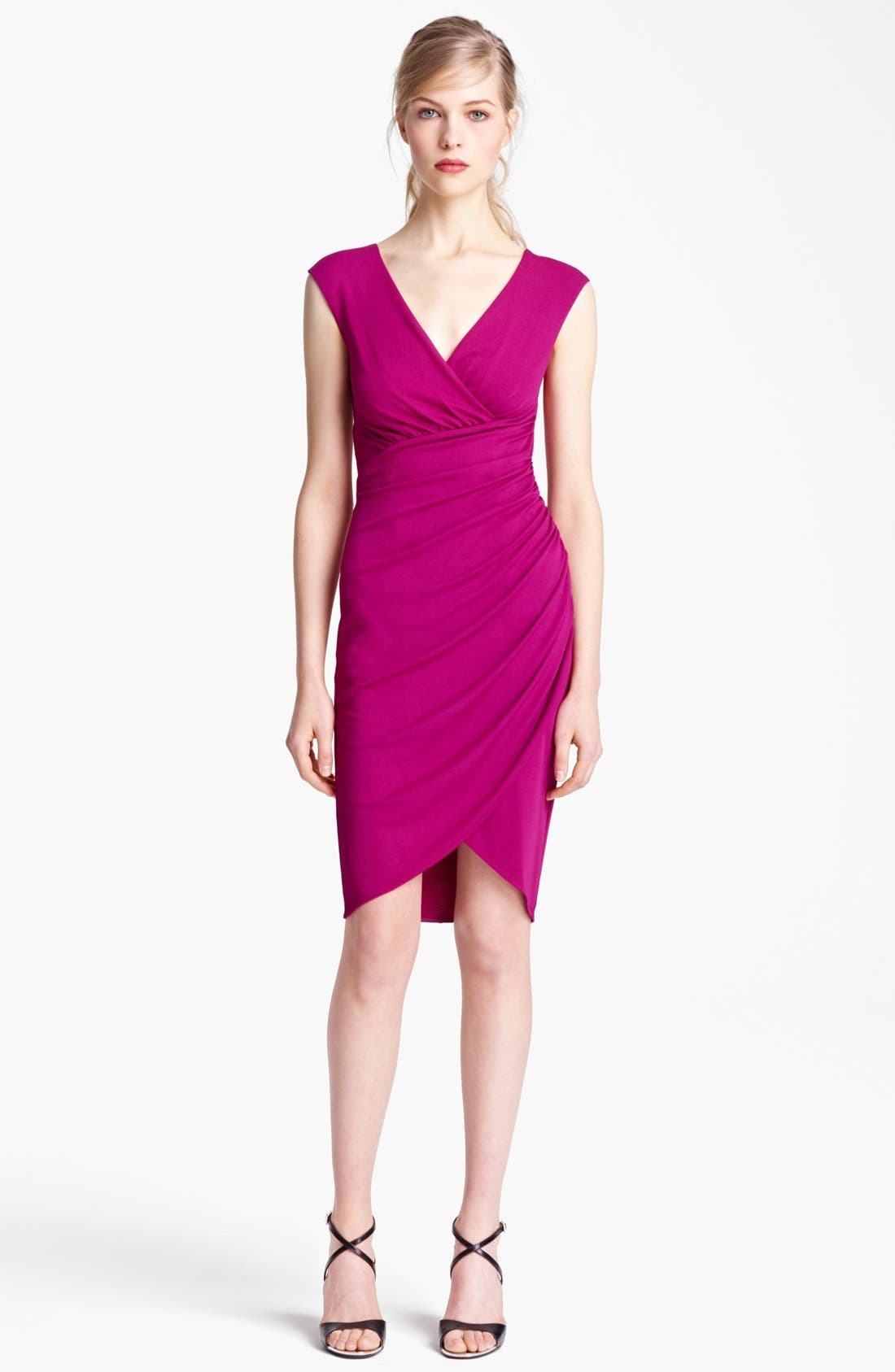 Main Image - Michael Kors Tulip Hem Wool Jersey Dress