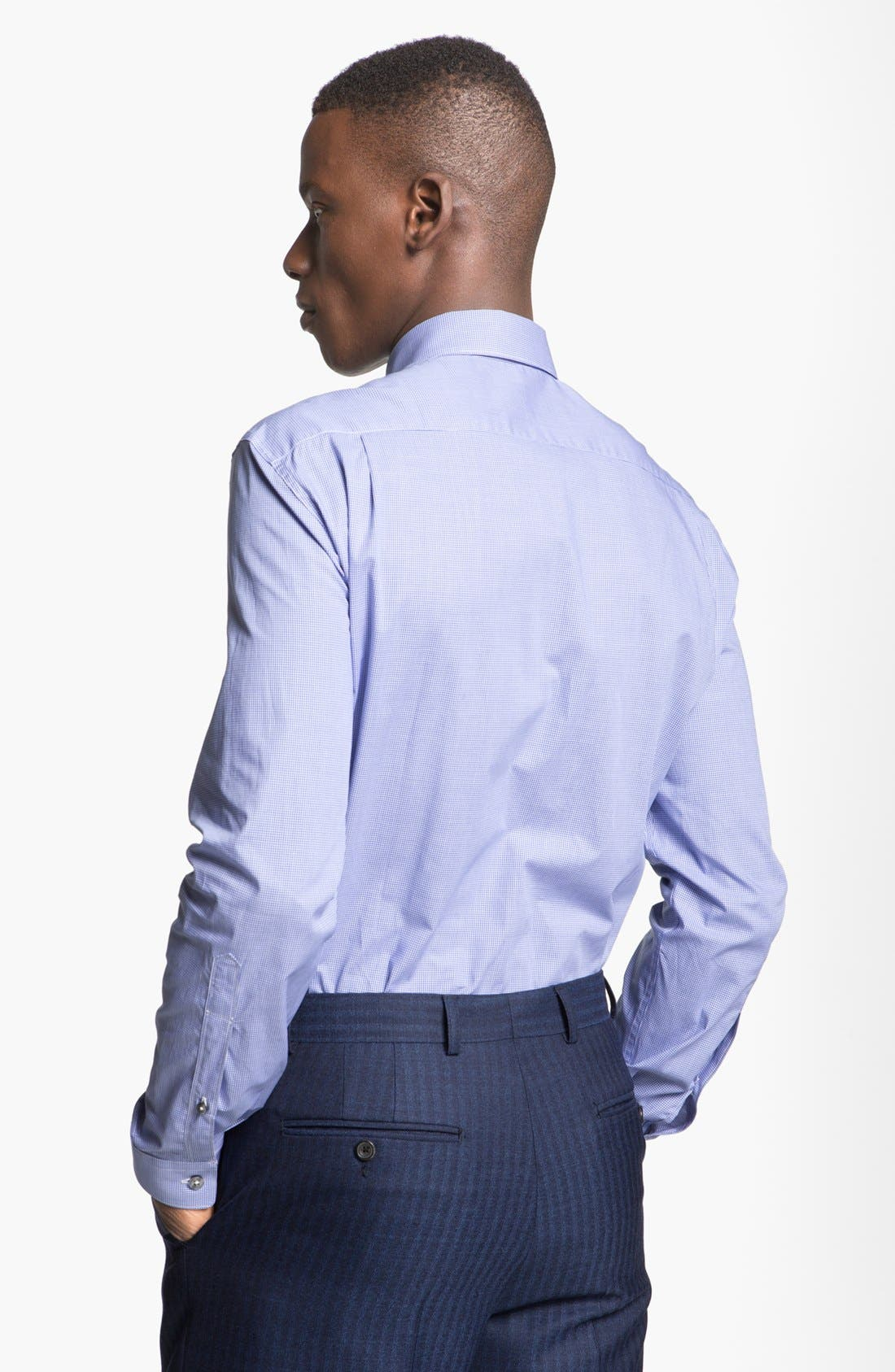 Alternate Image 2  - Paul Smith London Slim Fit Microcheck Dress Shirt
