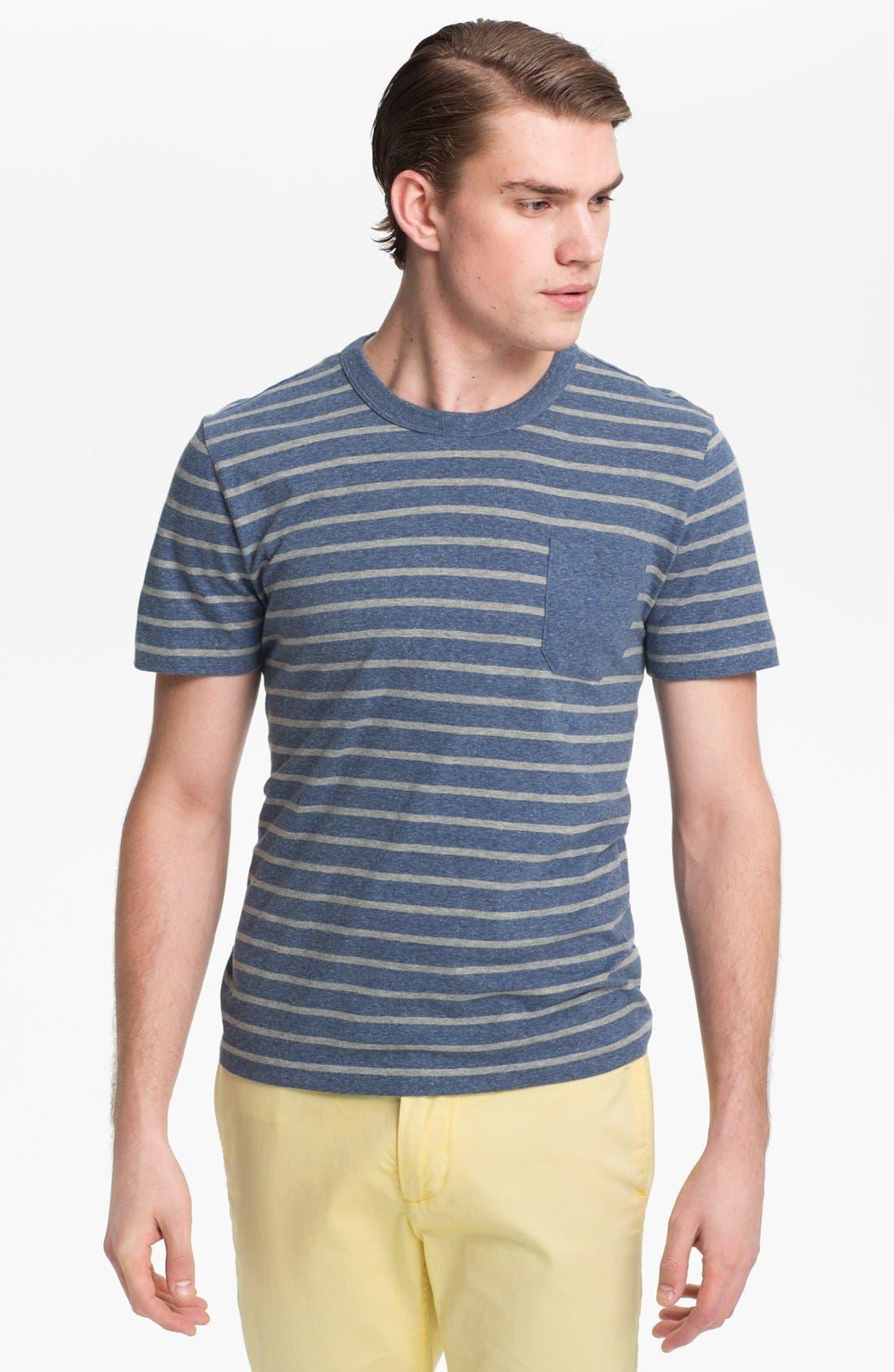Alternate Image 1 Selected - Jack Spade 'Calvin' Stripe Pocket T-Shirt