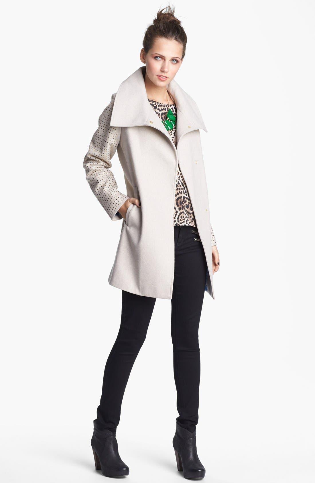 Alternate Image 2  - Jou Jou Studded Coat (Juniors)