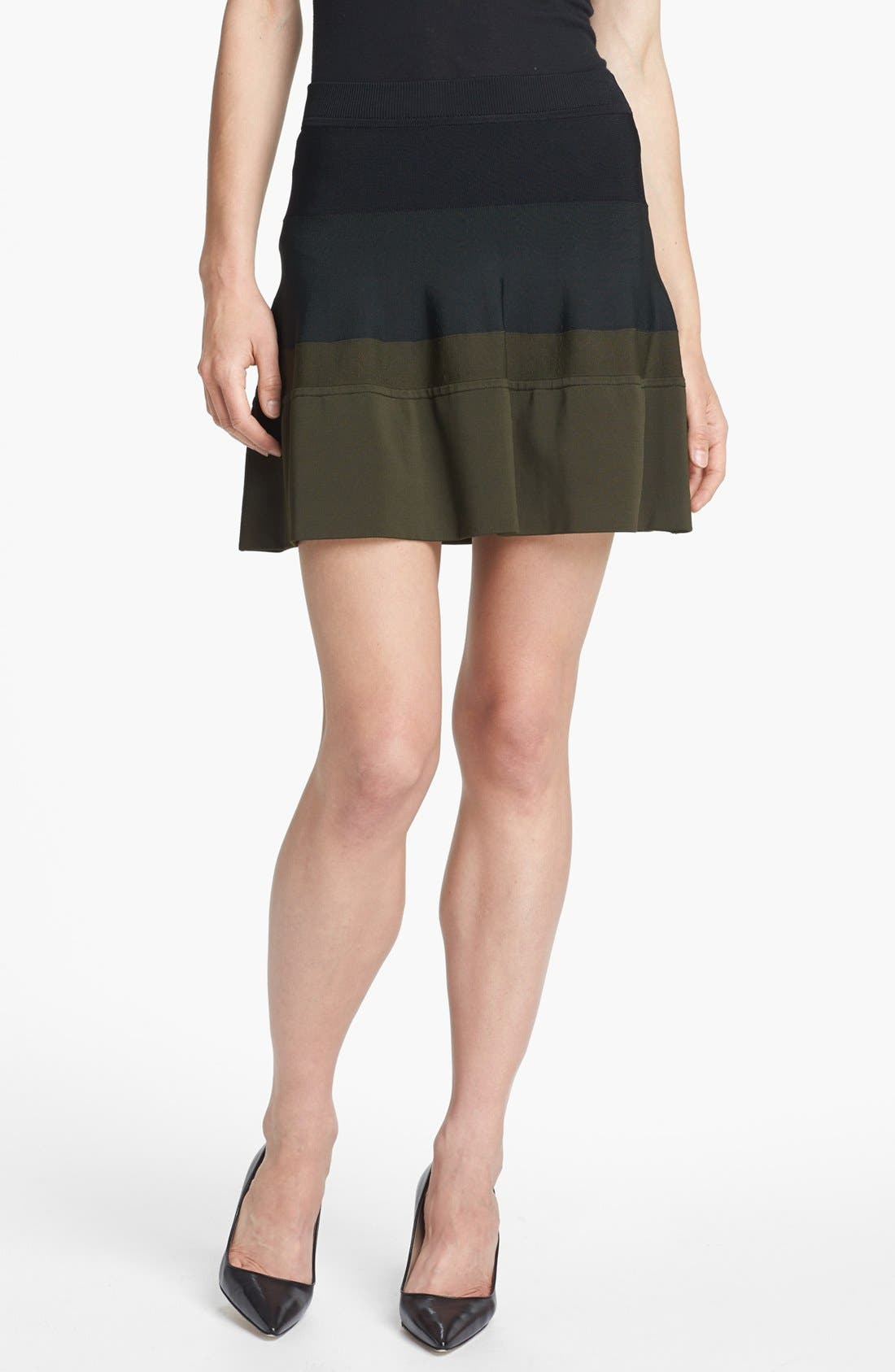 Main Image - A.L.C. 'Natalia' Colorblock Skirt