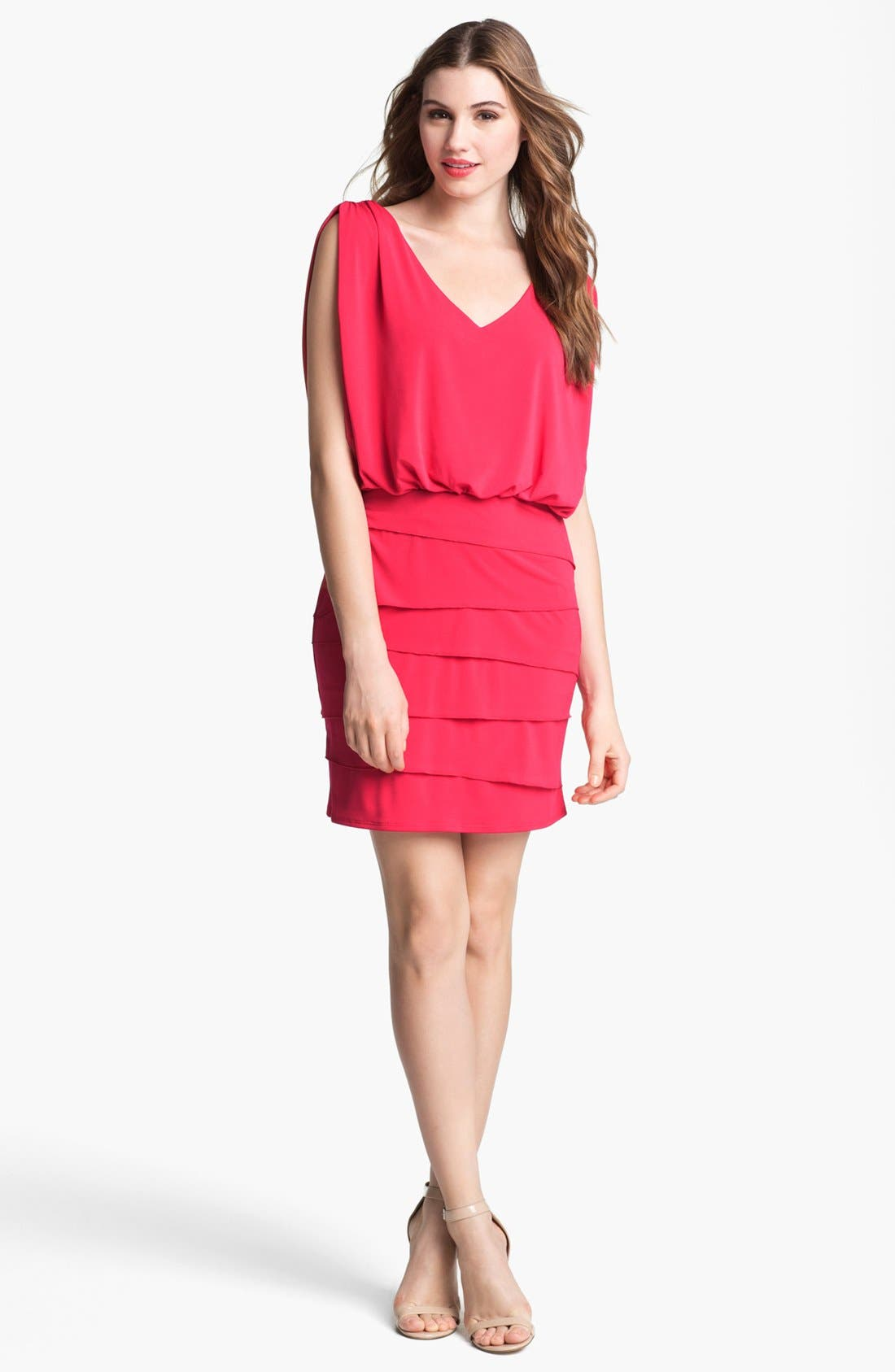 Alternate Image 1 Selected - Laundry by Shelli Segal Tiered Skirt Dress