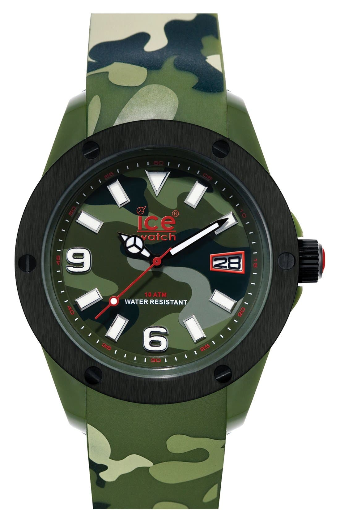 Alternate Image 1 Selected - ICE Watch 'Army' Silicone Strap Watch, 48mm