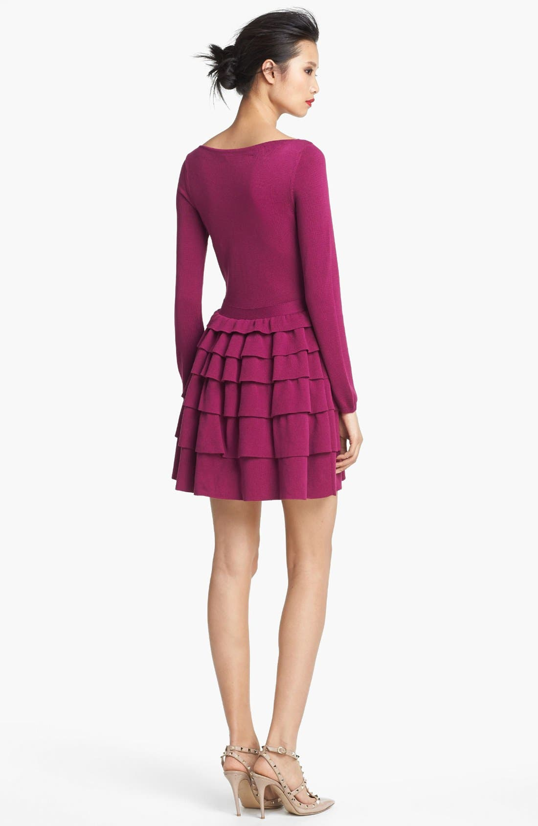 Alternate Image 2  - RED Valentino Ruffle Skirt Dress