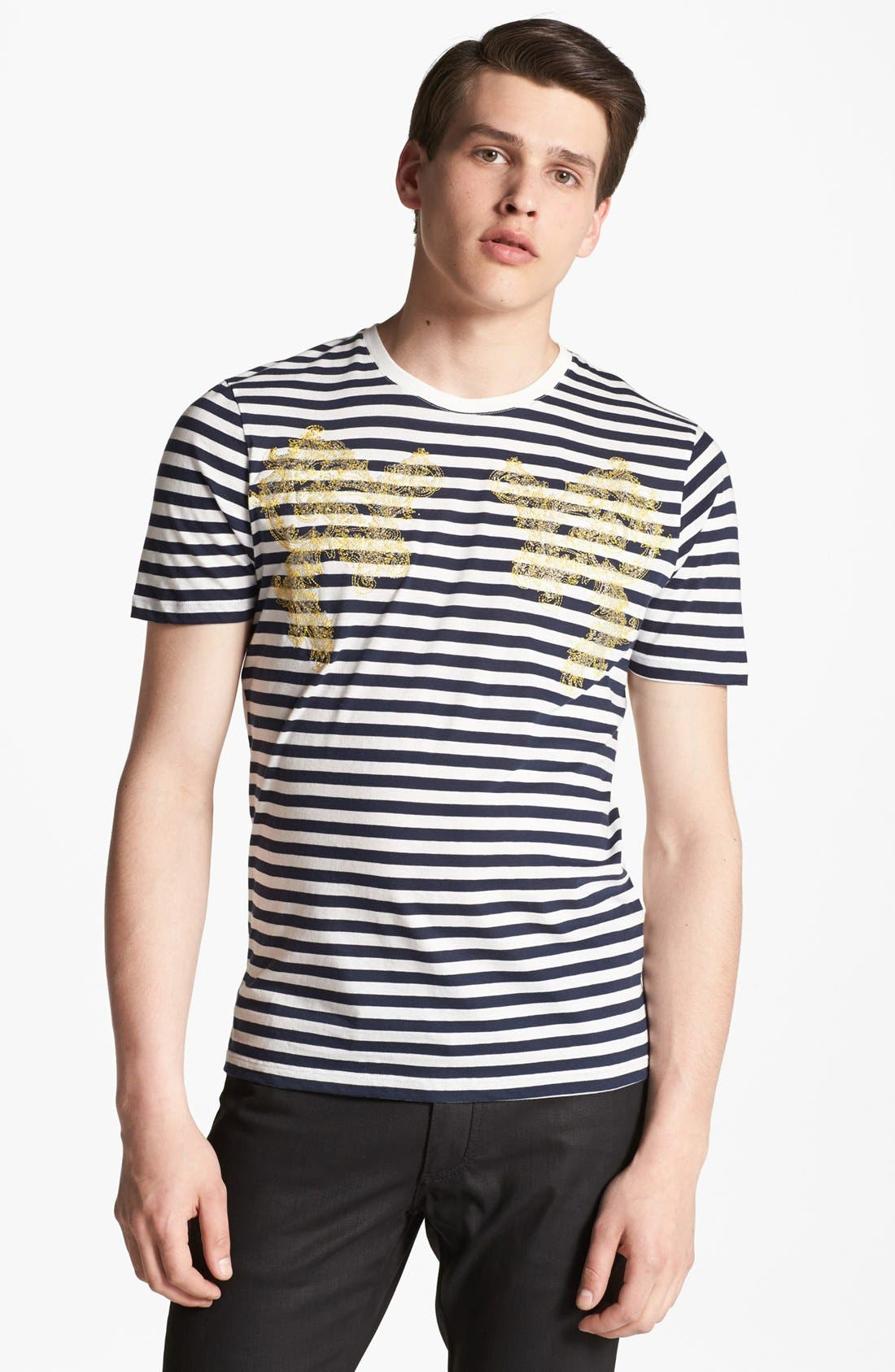 Alternate Image 1 Selected - Versace Embroidered T-Shirt